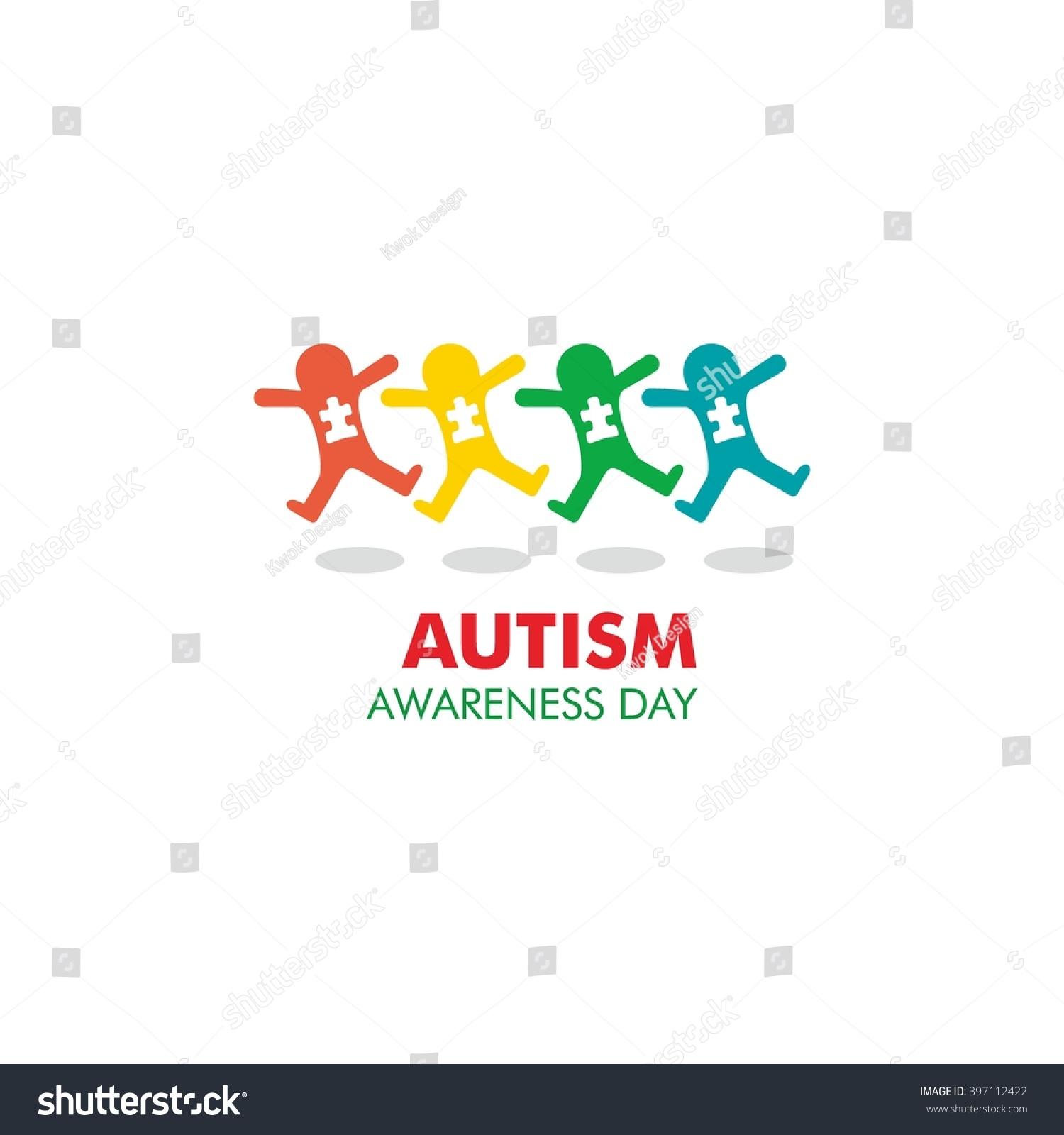 World autism awareness day logo design stock vector 397112422 world autism awareness day logo design template vector illustration colorful puzzles symbol biocorpaavc