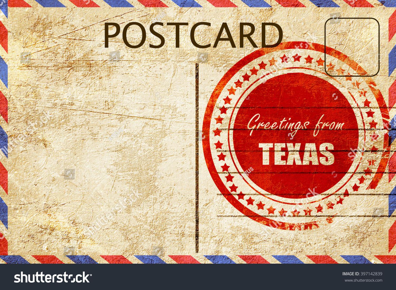 Vintage postcard greetings texas stock illustration 397142839 vintage postcard greetings from texas kristyandbryce Choice Image
