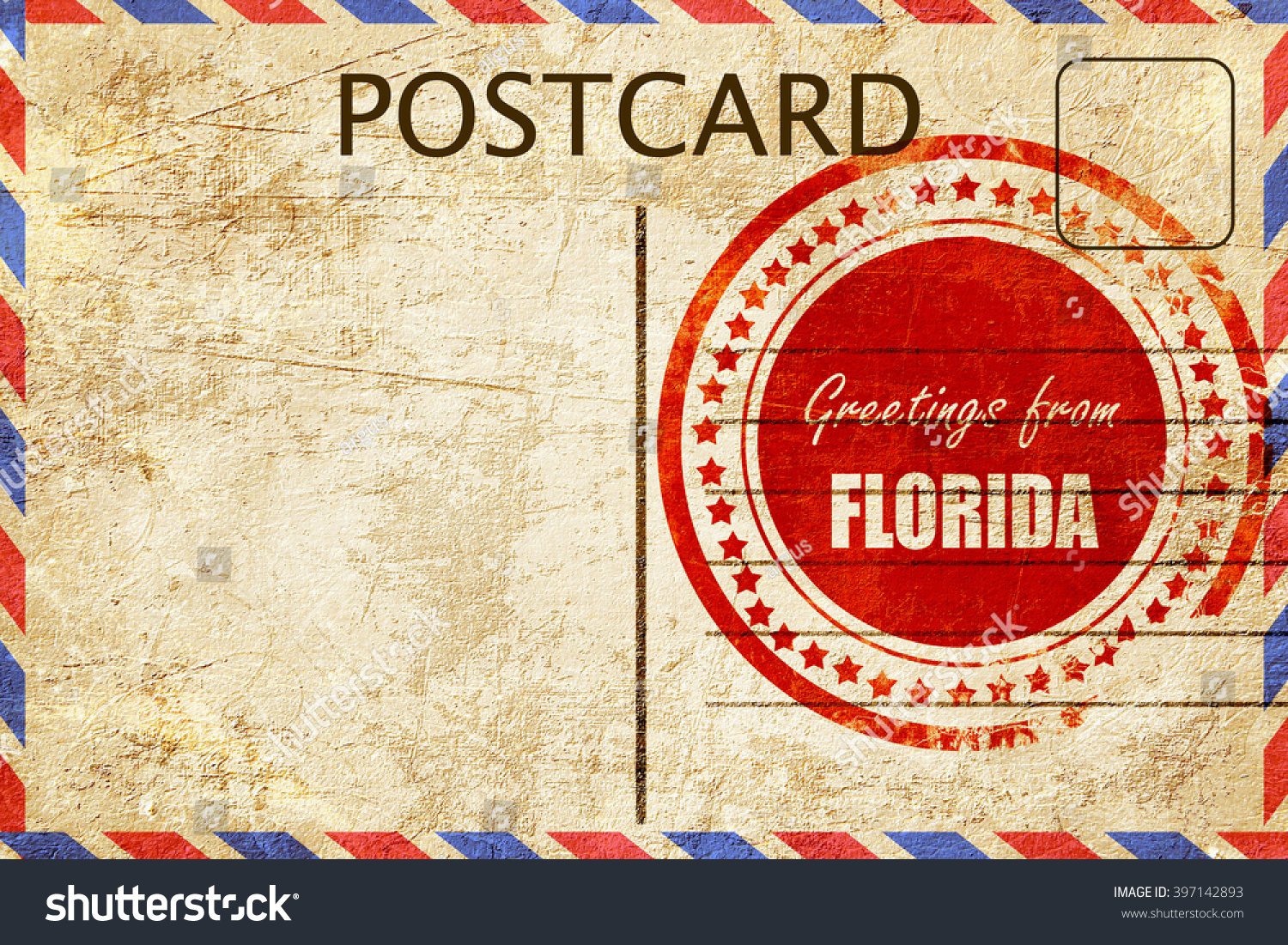 Vintage postcard greetings florida stock illustration 397142893 vintage postcard greetings from florida kristyandbryce Image collections
