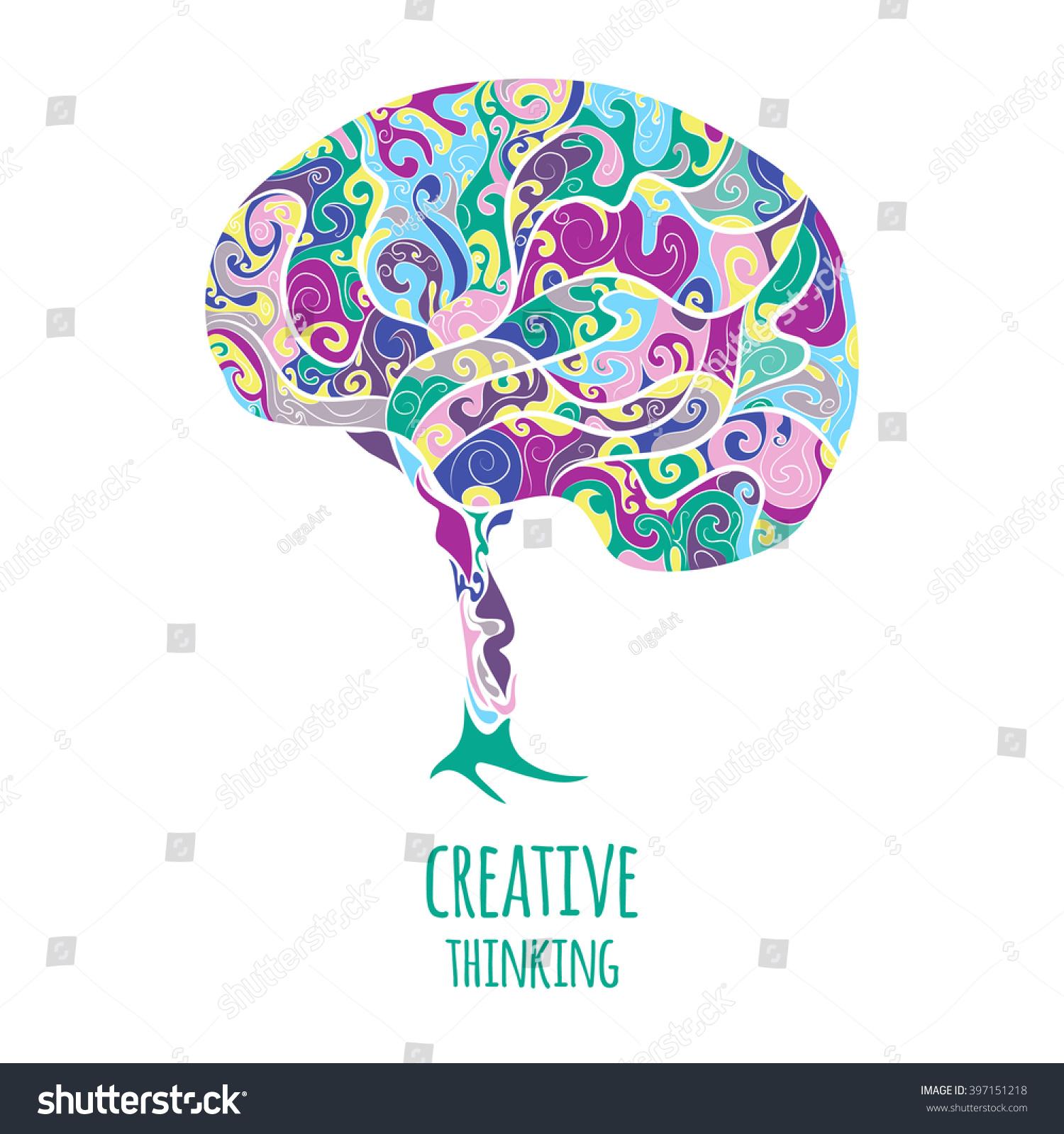 Royalty-free Creative thinking. Brain #397151218 Stock