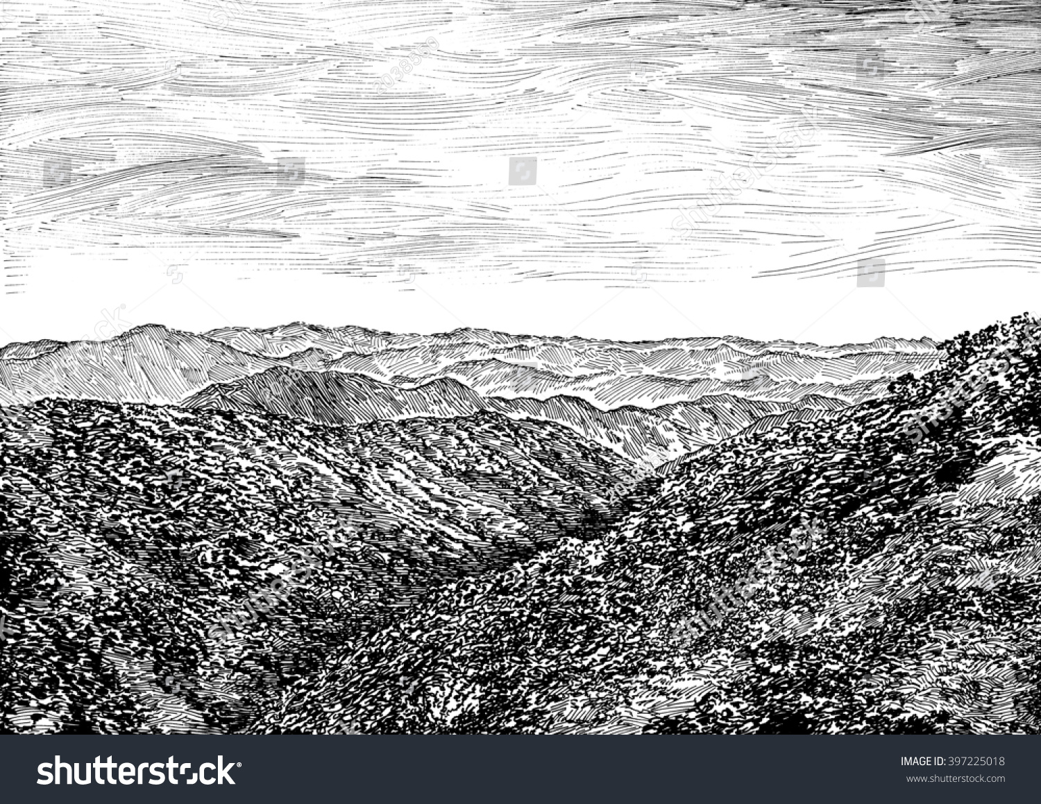 Royalty Free Stock Illustration Of Japan Mountain View Perspective
