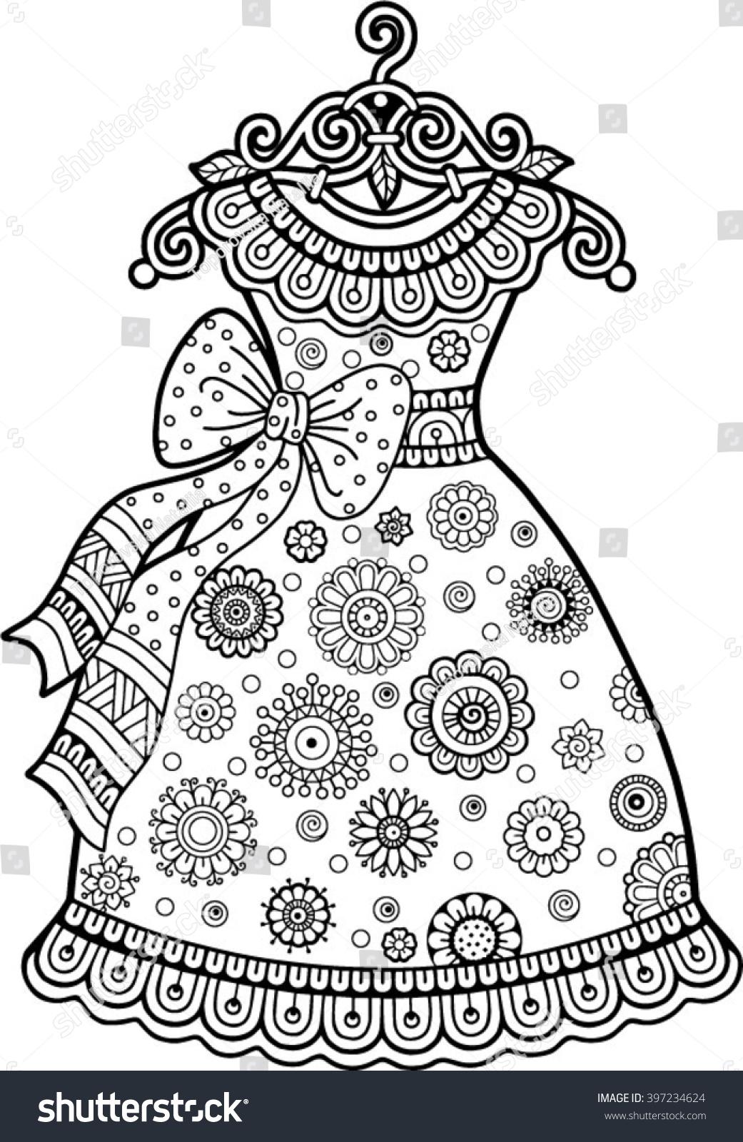 Design a dress coloring book