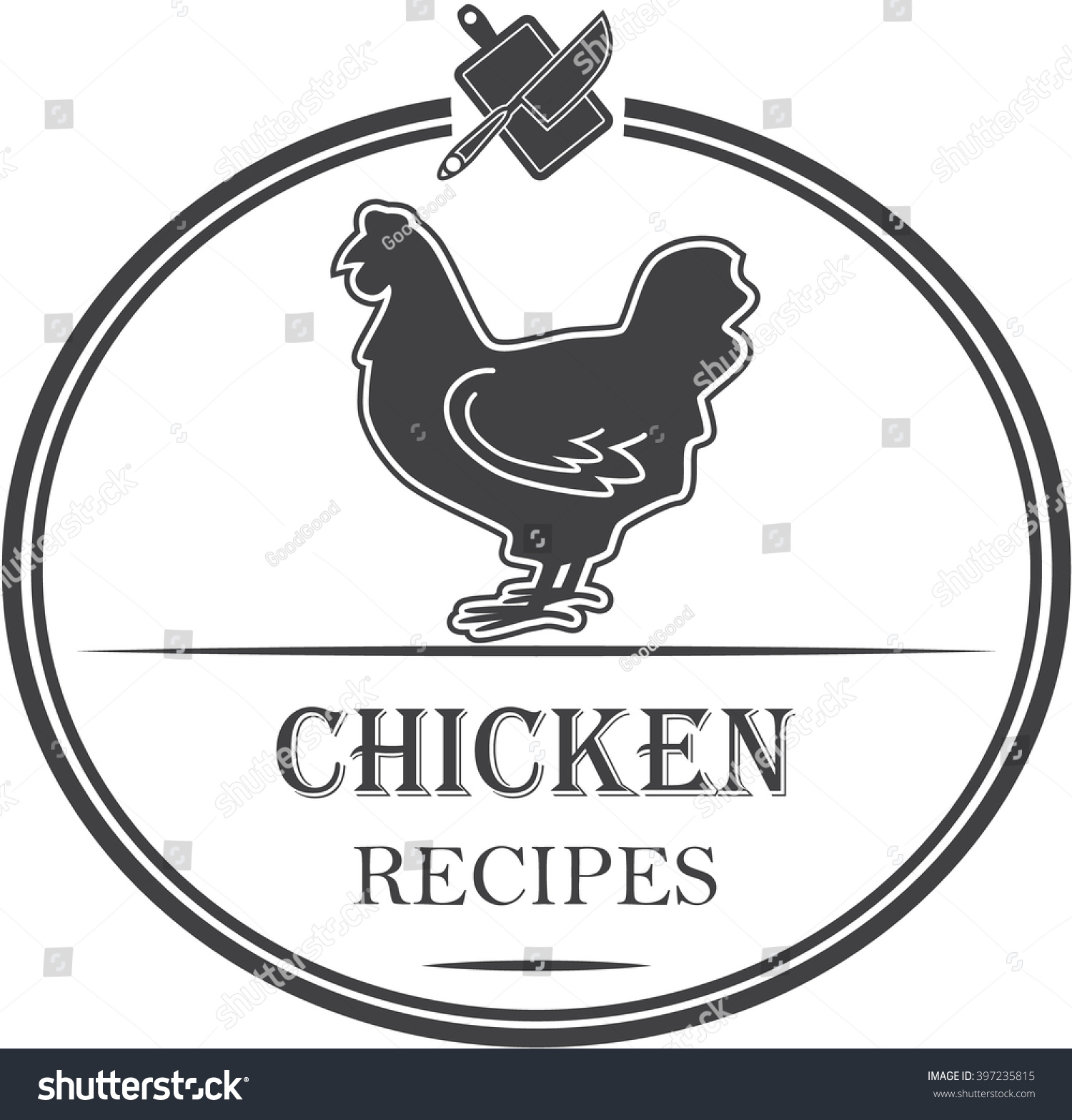 Chicken Recipe Icon Vector Stock Vector 397235815 ...