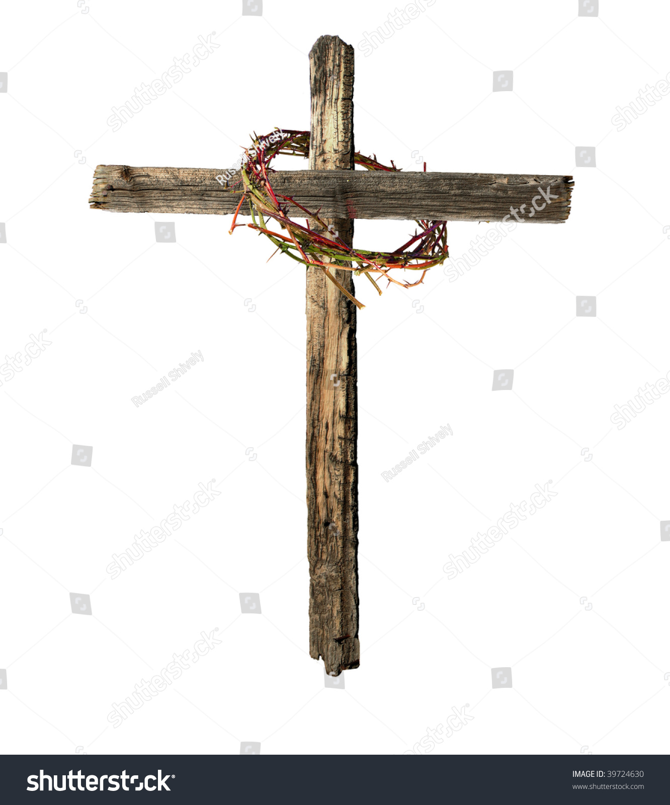Roman Cross Made Old Weathered Wood Stock Photo Edit Now 39724630