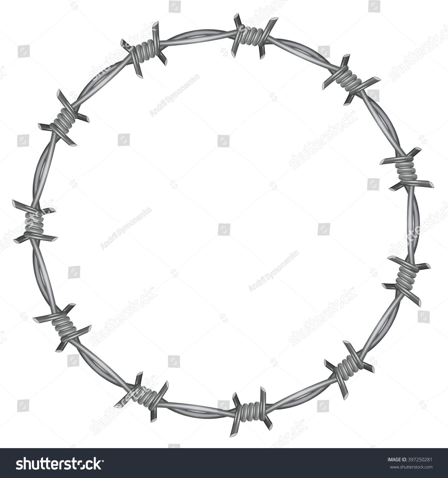 Frame Barbed Wire Stock Illustration 397250281 - Shutterstock