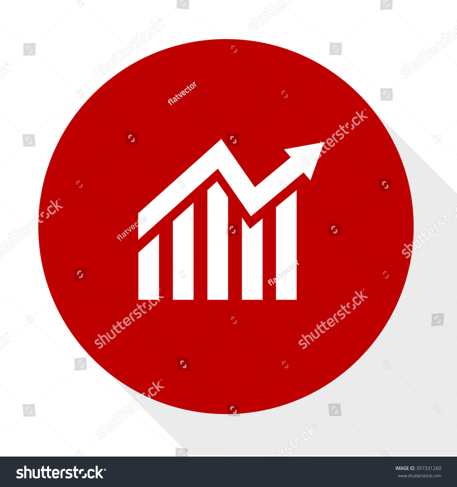 Finance Sign: Financial Charts Sign Stock Vector 397331260