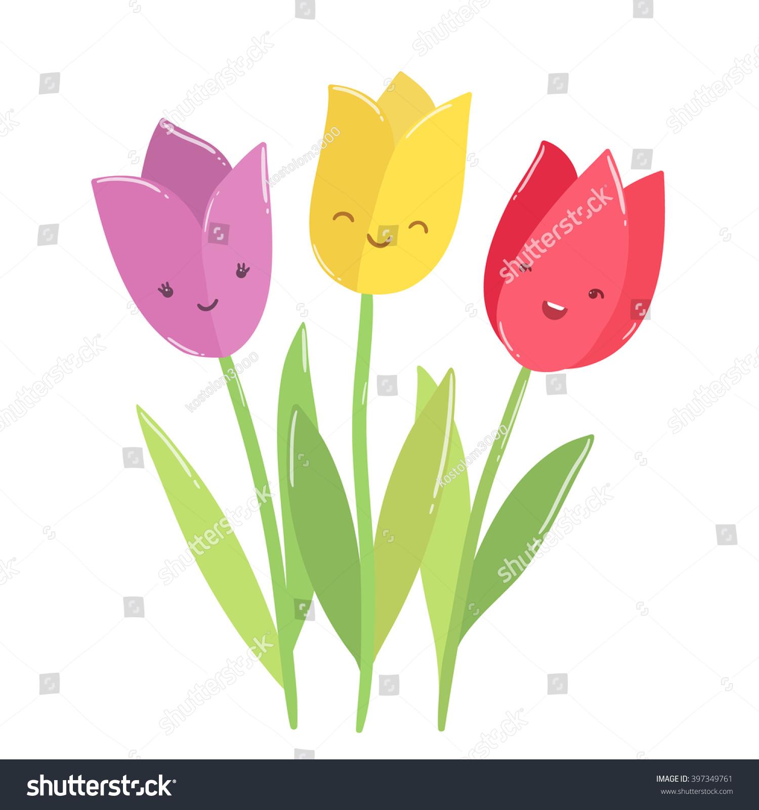 Cute funny tulips characters cartoon flower stock vector 397349761 cute funny tulips characters cartoon flower illustration izmirmasajfo