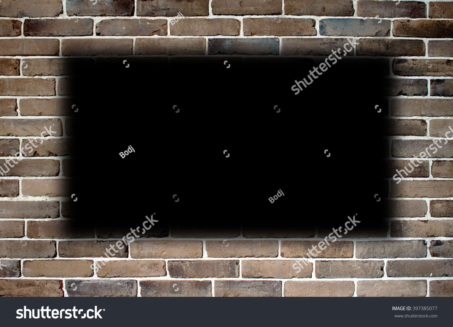 Wall Bricks Empty Space Center Stock Photo 397385077