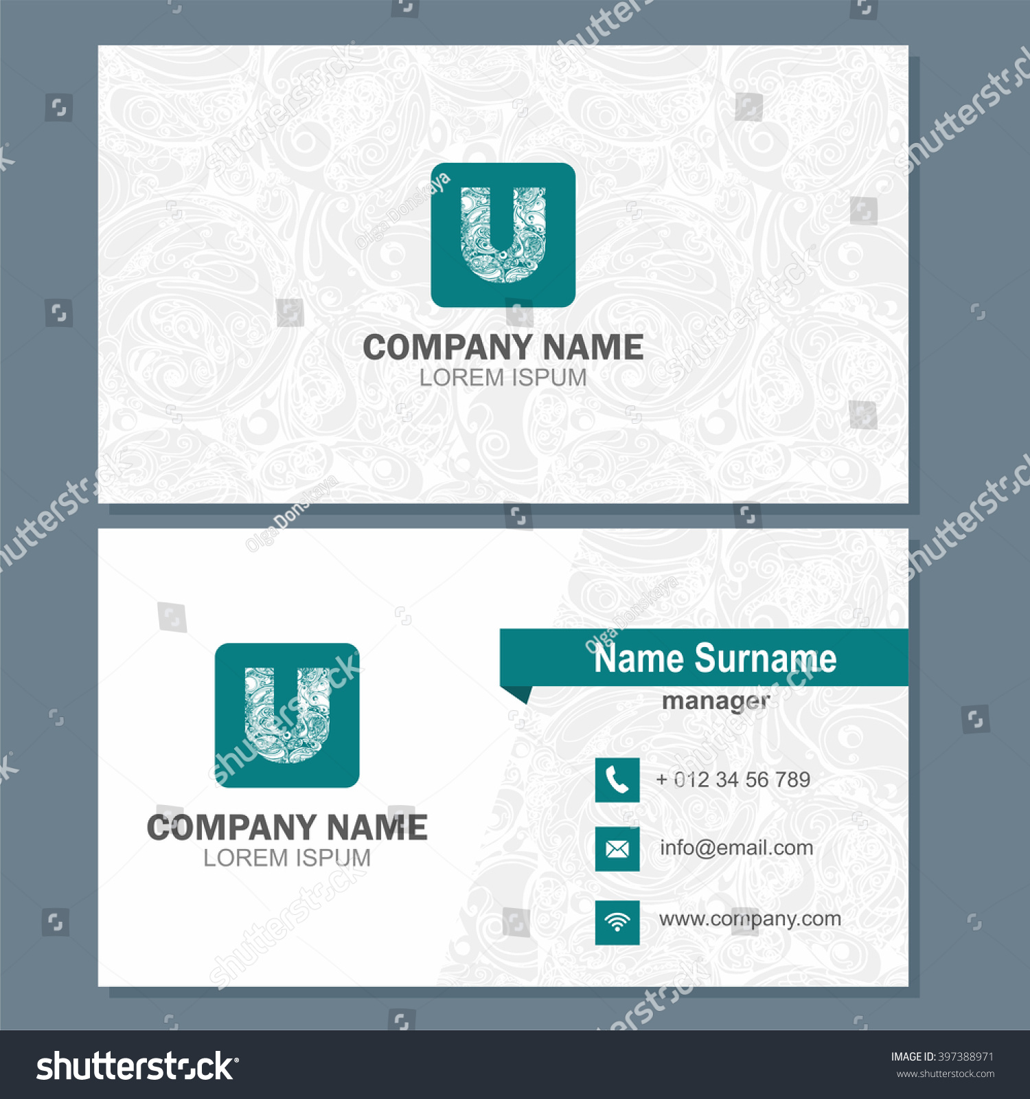 business card visiting card template logo stock vector