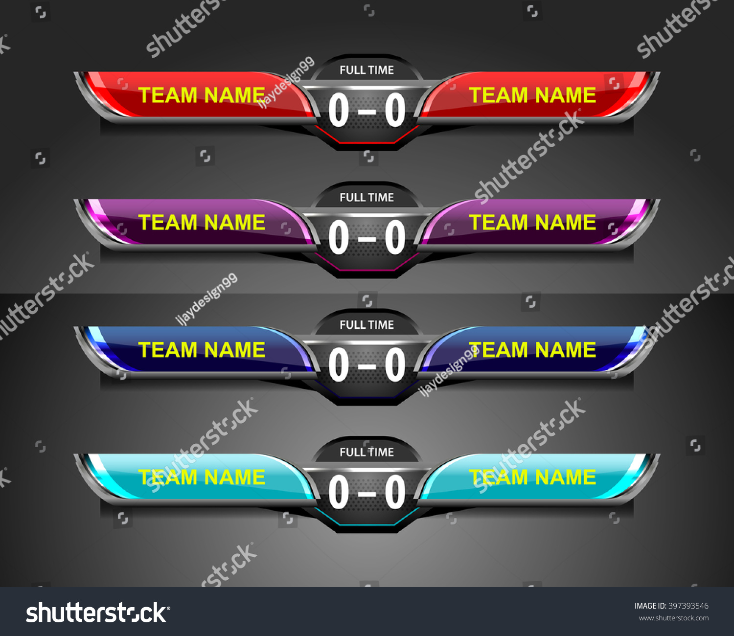 Scoreboard Template Sport Game Soccer Football Vector – Scoreboard Template