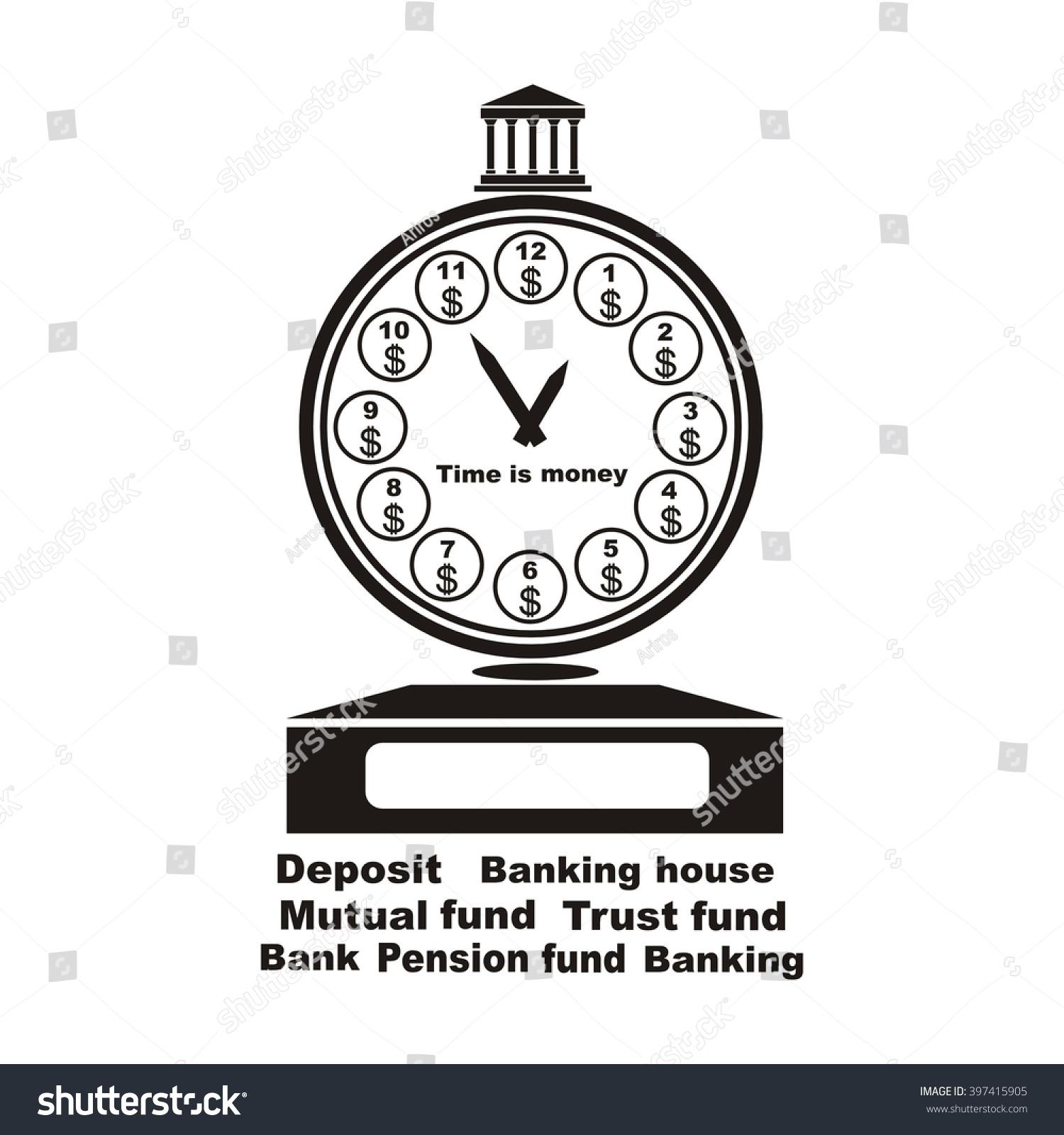 Banking Symbol Bank Symbol Pension Fund Stock Vector Royalty Free