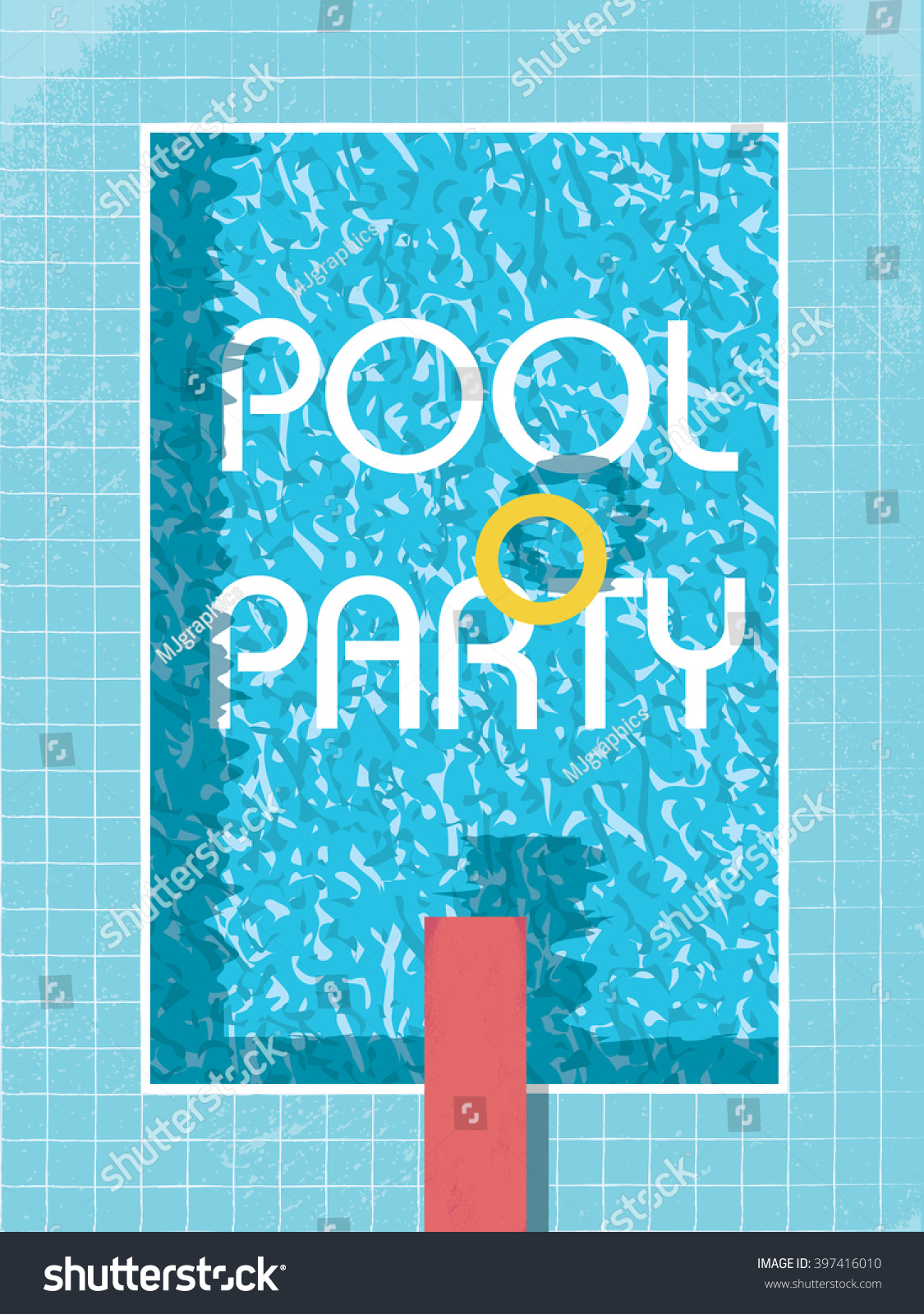 pool party invitation poster flyer leaflet のベクター画像素材