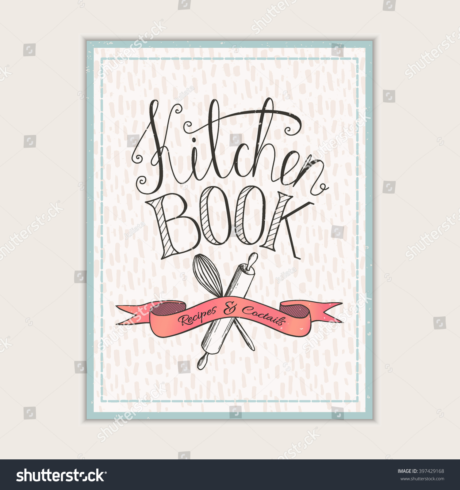 Book Cover Design Elegant : Cover design kitchen book recipes cooking stock vector