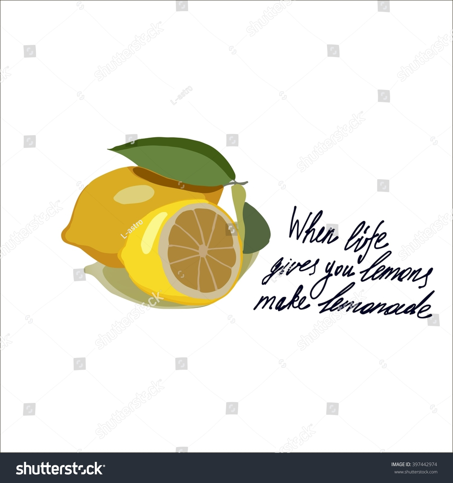 Handdrawin Lettering When Life Gives You Stock Vector Royalty Free