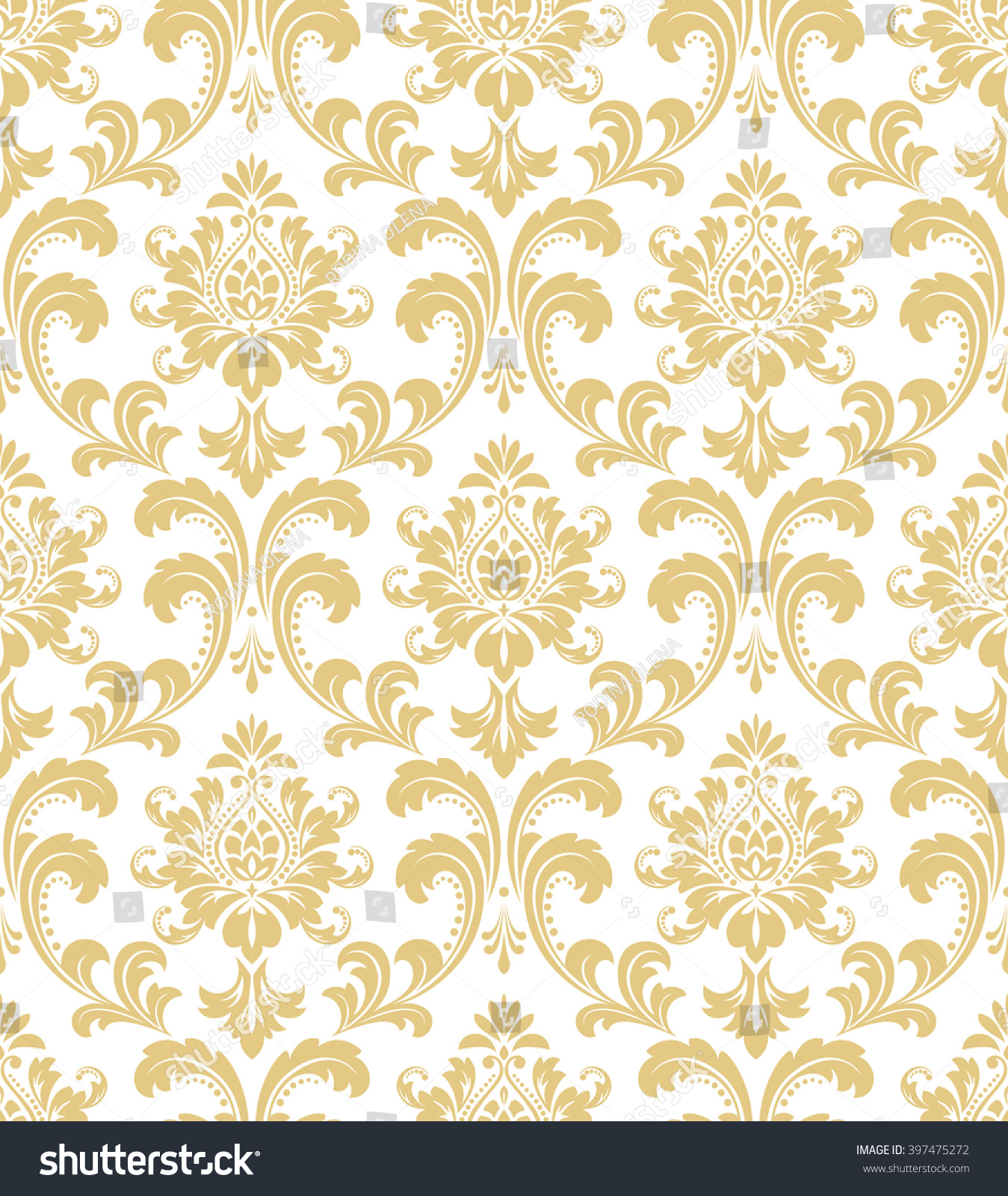 white and gold floral wallpaper - photo #23