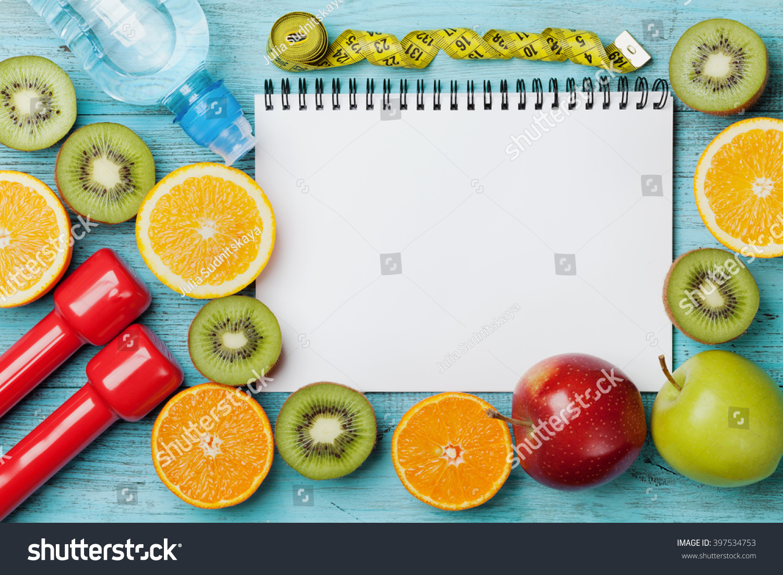 Diet Plan Menu Program Tape Measure Stock Photo 397534753 ...