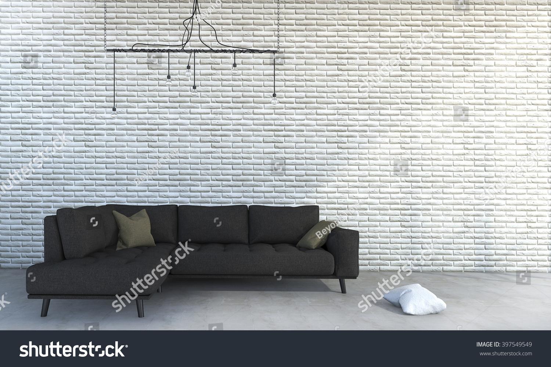 3 D Rendering White Brick Wall Minimal Stock Illustration 397549549 ...