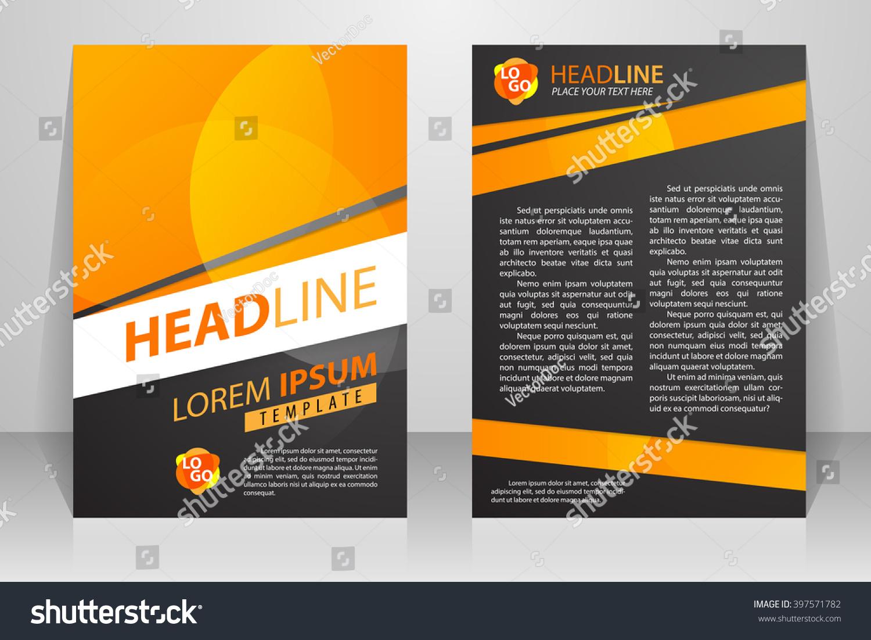 abstract vector modern flyers brochure booklet stock vector royalty