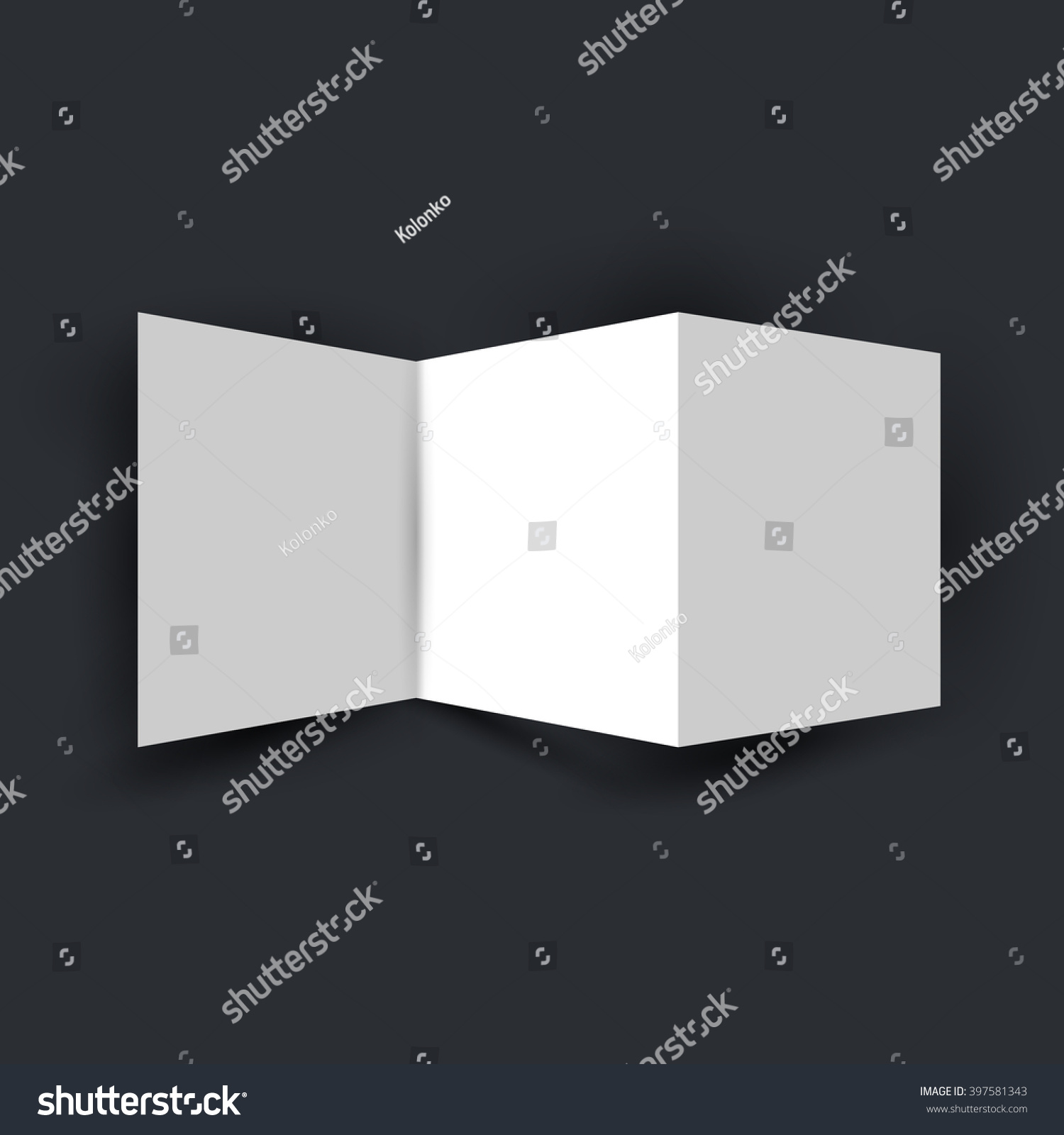 Folded White 3 Page Flyer Brochure Stock Vector 397581343 ...