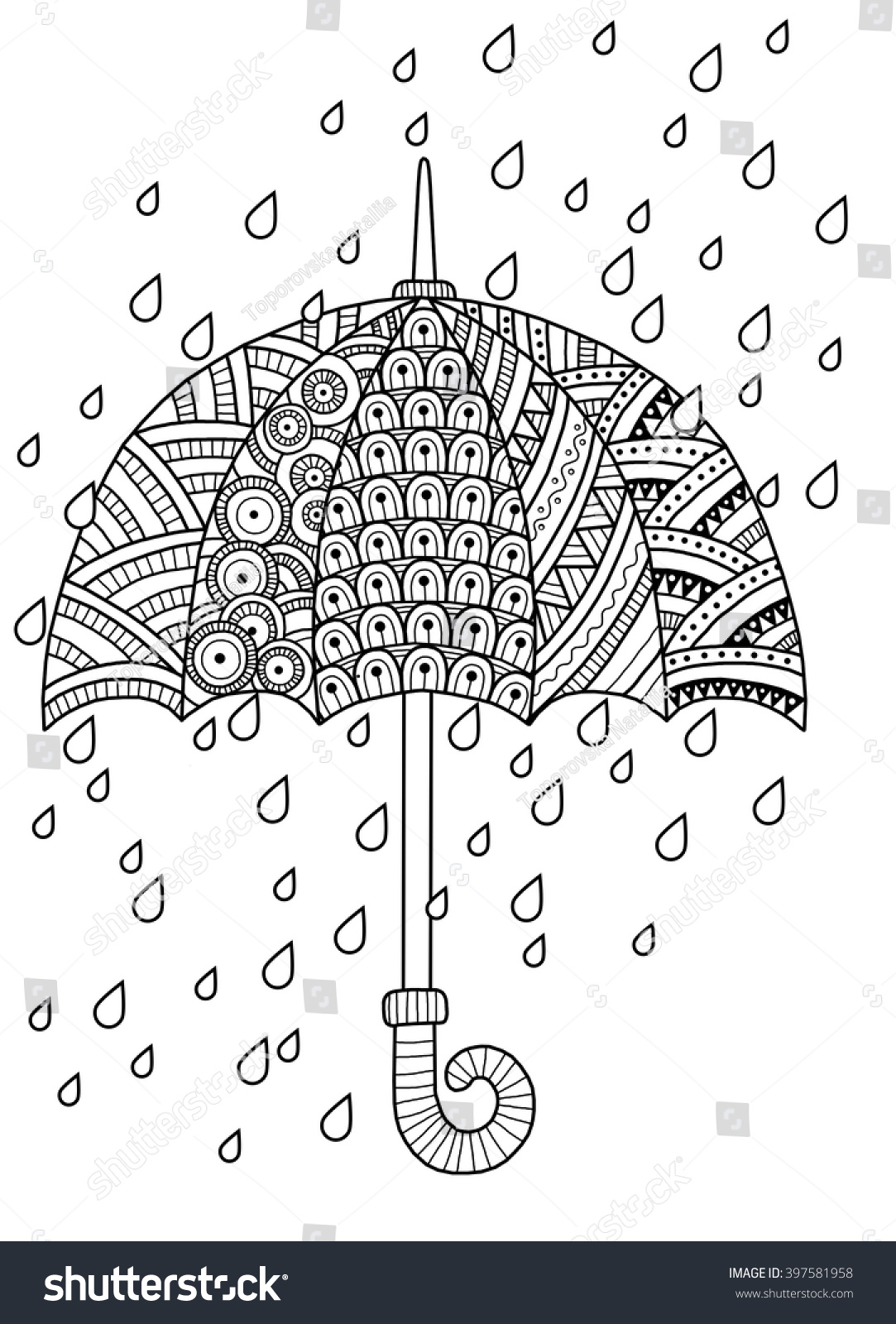 hand draw doodle coloring page stock illustration 397581958