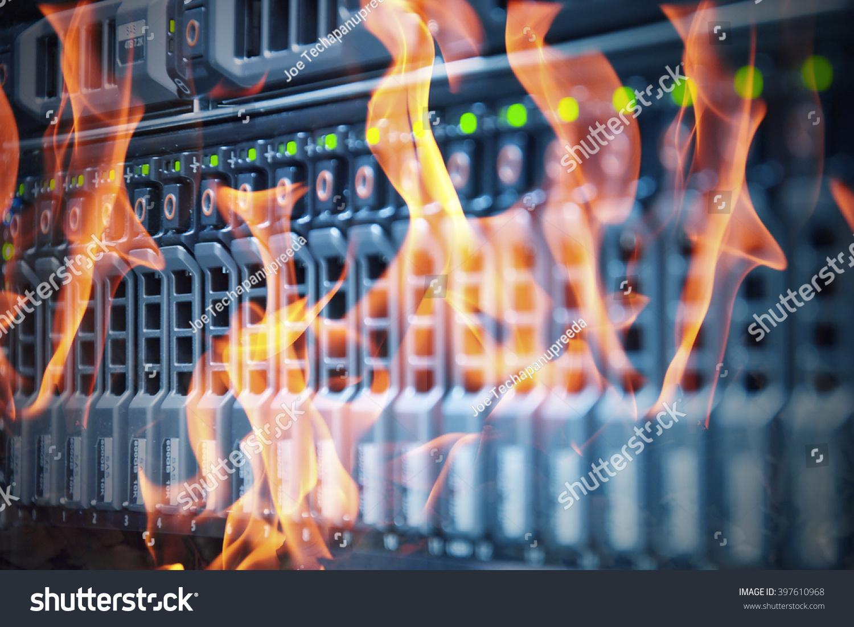 Disaster Data Center Room Server Storage Stock Photo ...  Disaster Data C...