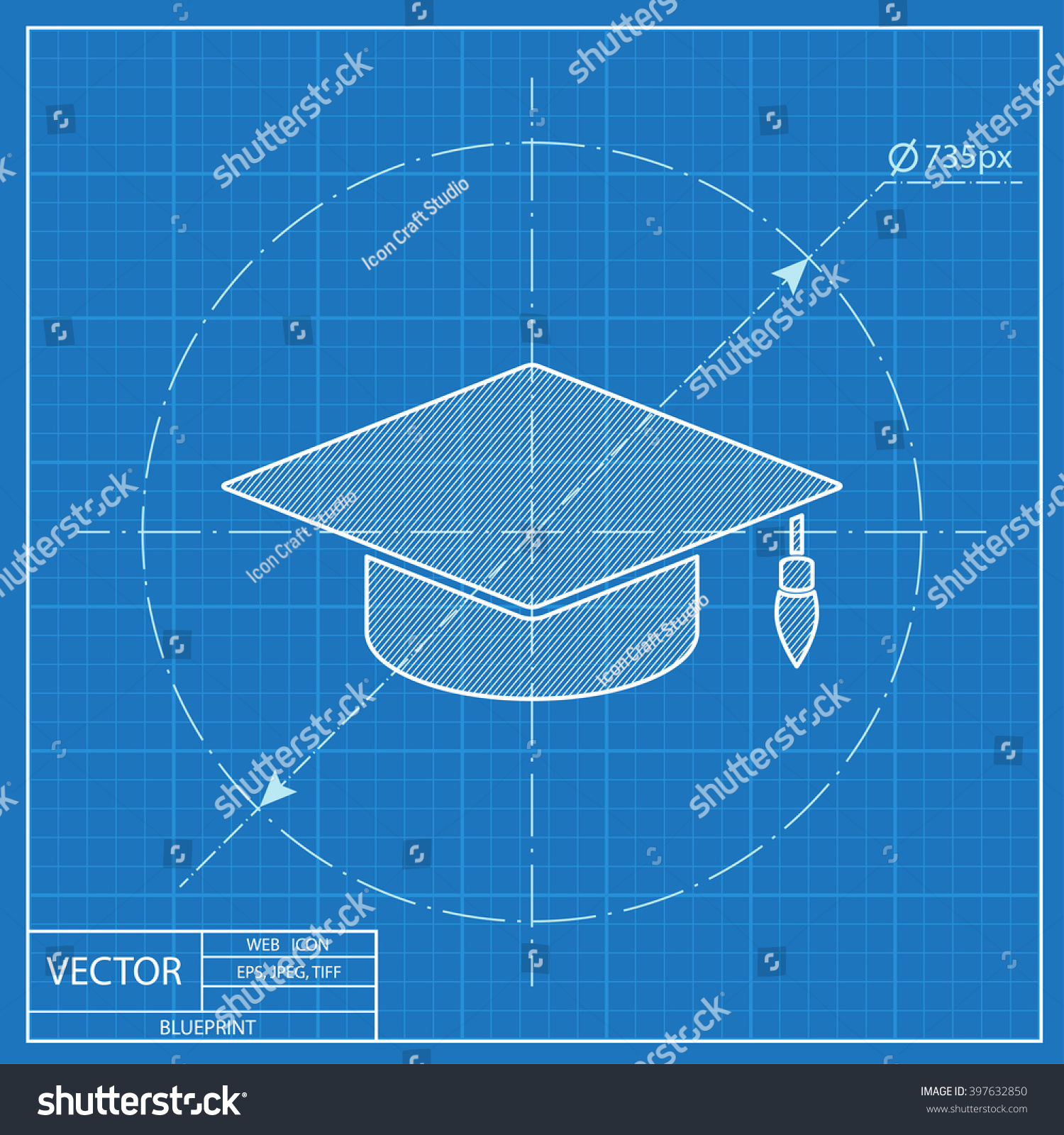Academic hat vector blueprint icon vector de stock397632850 academic hat vector blueprint icon vector de stock397632850 shutterstock malvernweather Image collections