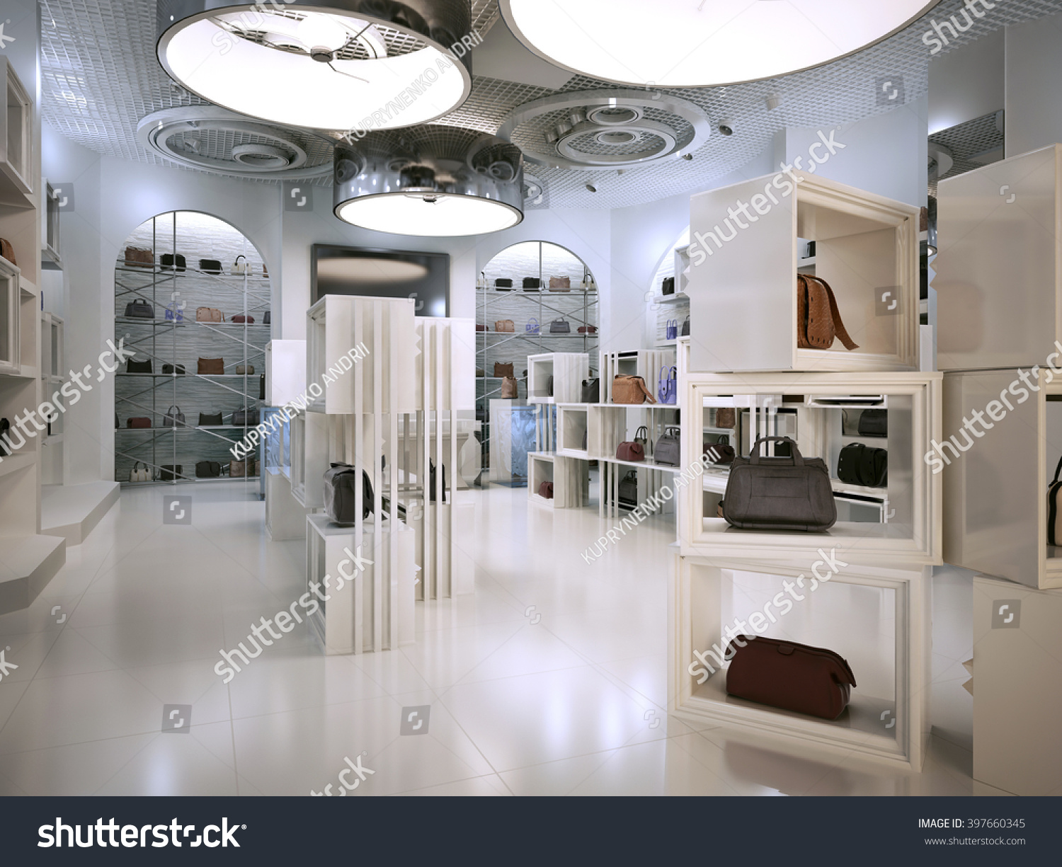 Luxury shop interior design art deco stock illustration for Boutique deco