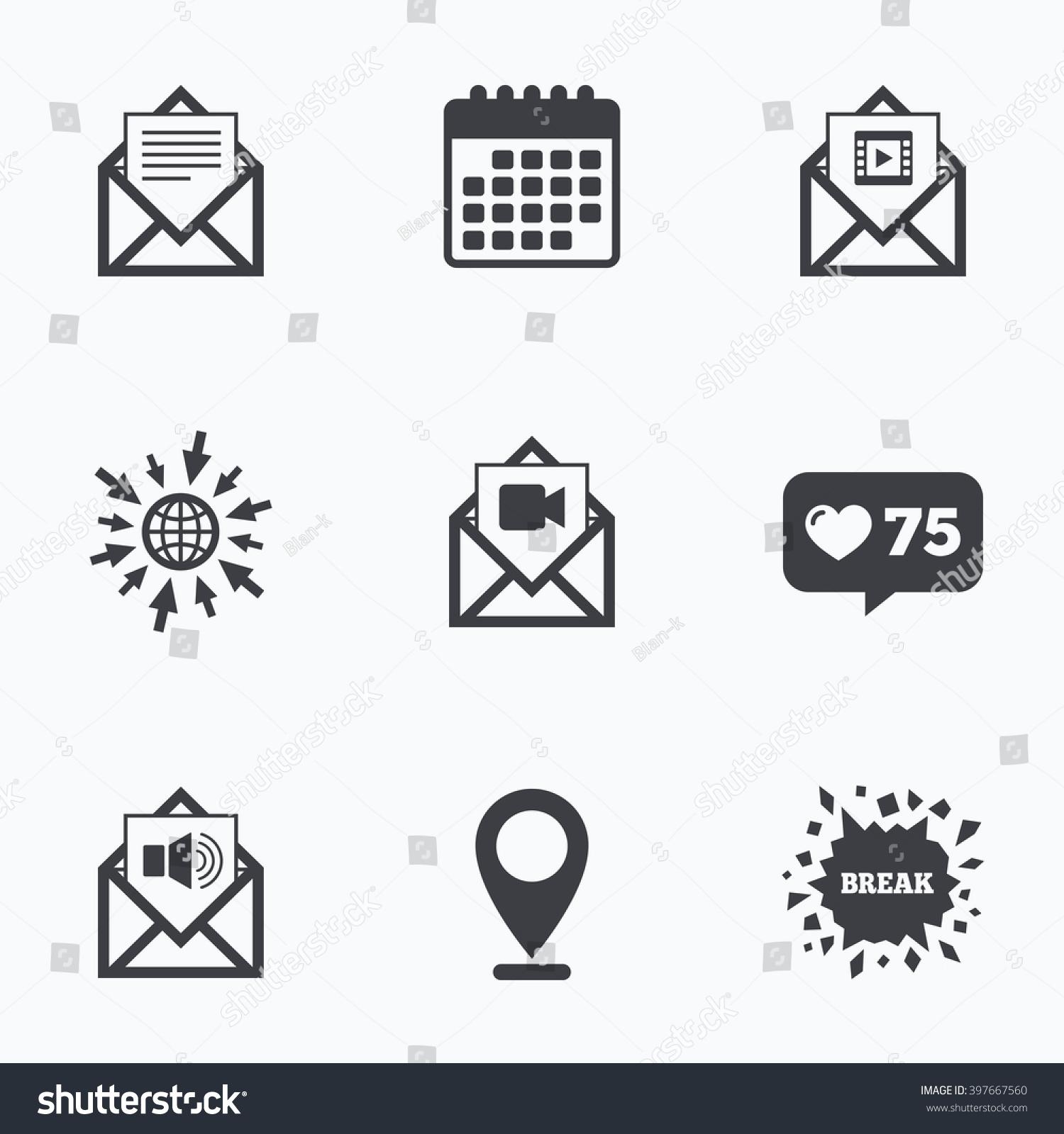 Calendar Like Counter Go Web Icons Stock Illustration 397667560