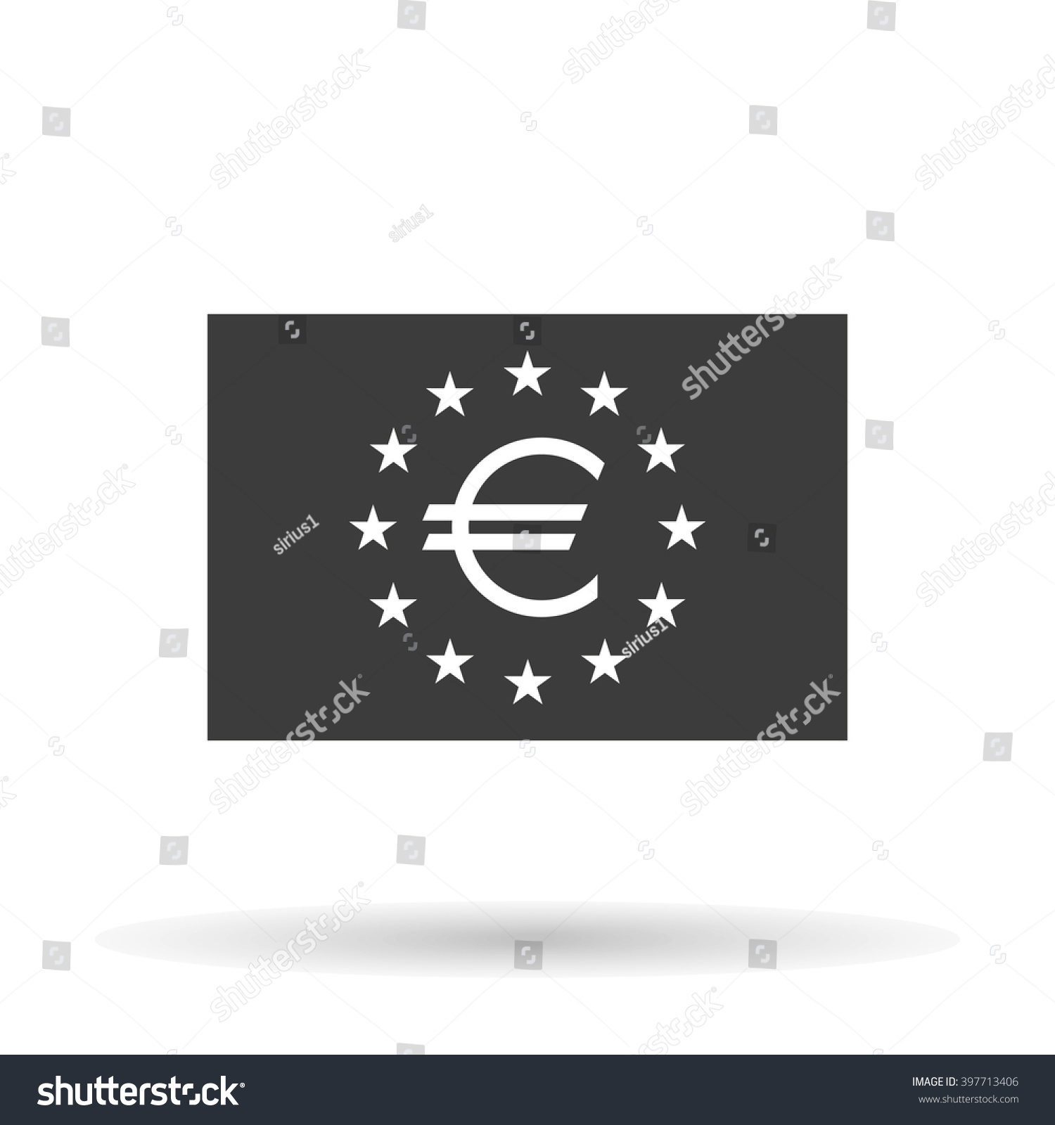 Eu Flag Icon European Union Euro Stock Vector Royalty Free