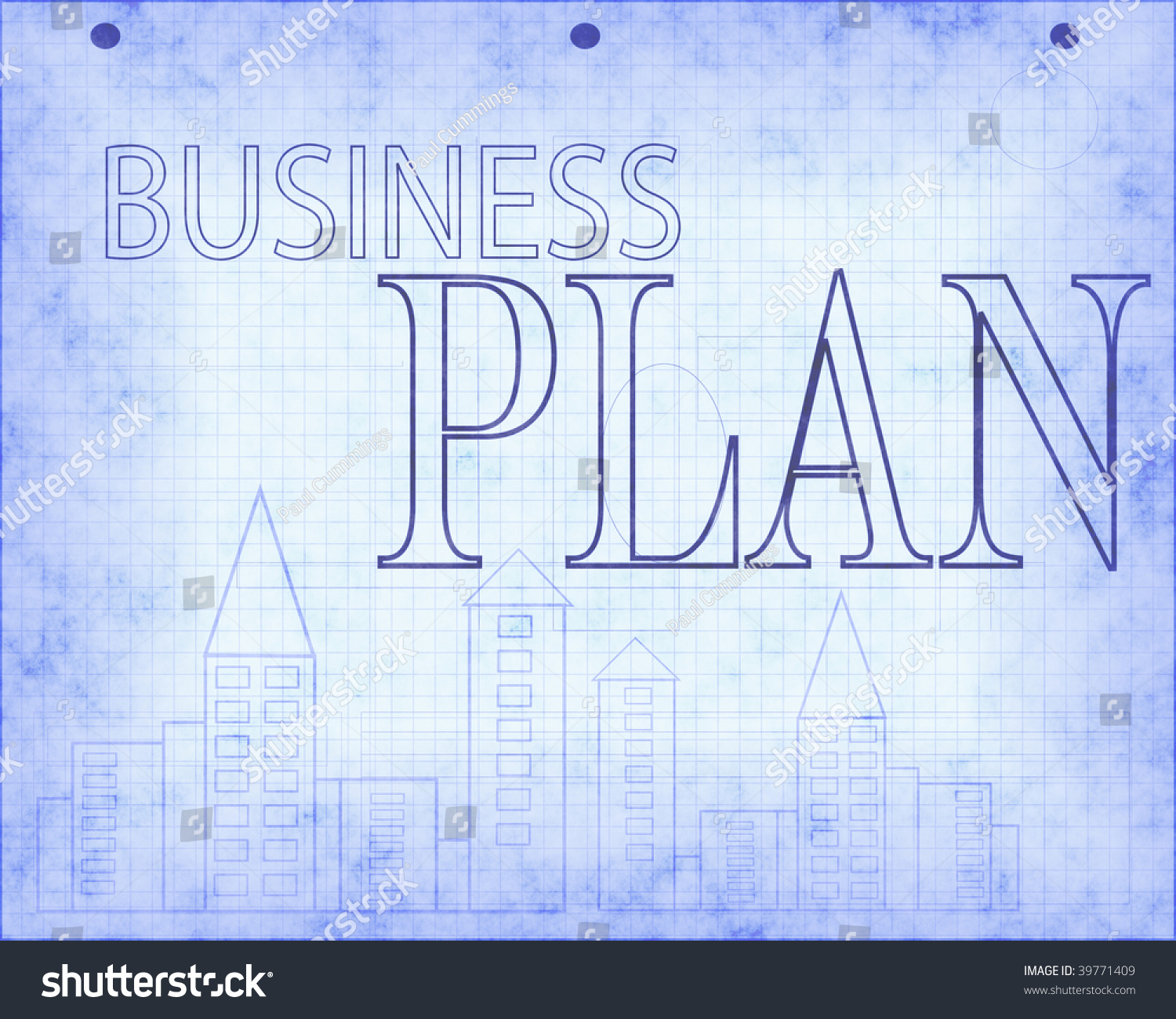 Blueprint business plan design stock illustration 39771409 blueprint of business plan design malvernweather Image collections
