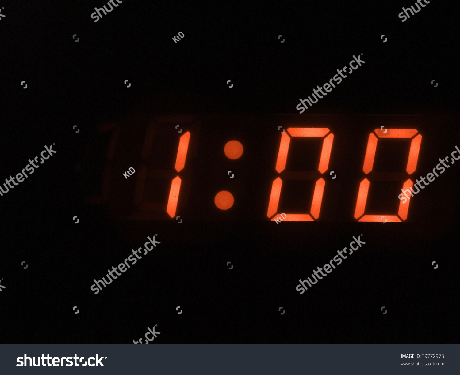 One O Clock Stock Photo 39772978 - Shutterstock
