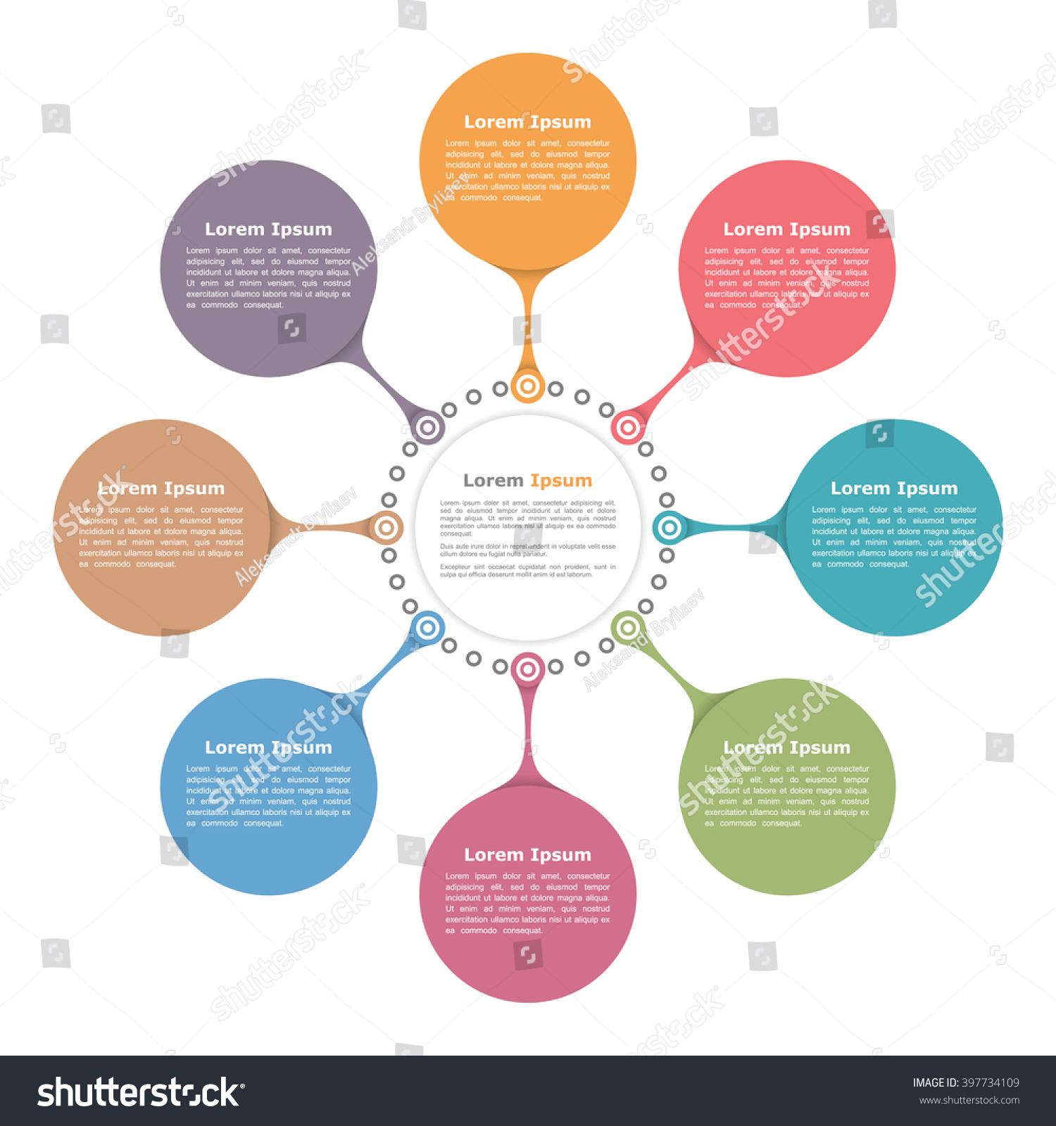 circle flow diagram template with eight elements  vector eps     circle flow diagram template   eight elements  vector eps  illustration preview  save to a lightbox