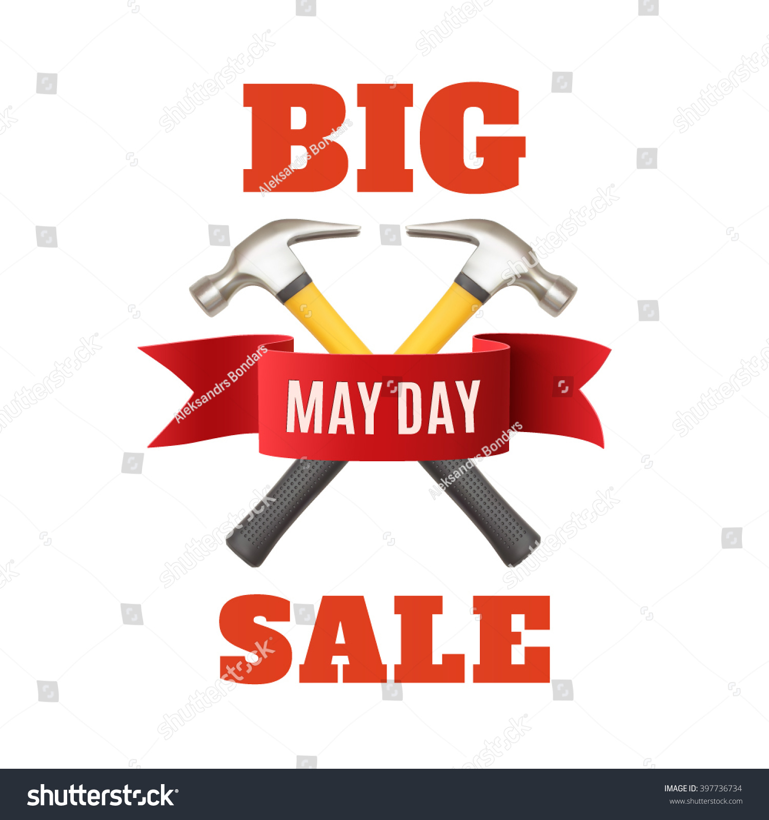Big May Day Sale May 1st Stock Vector (2018) 397736734 - Shutterstock
