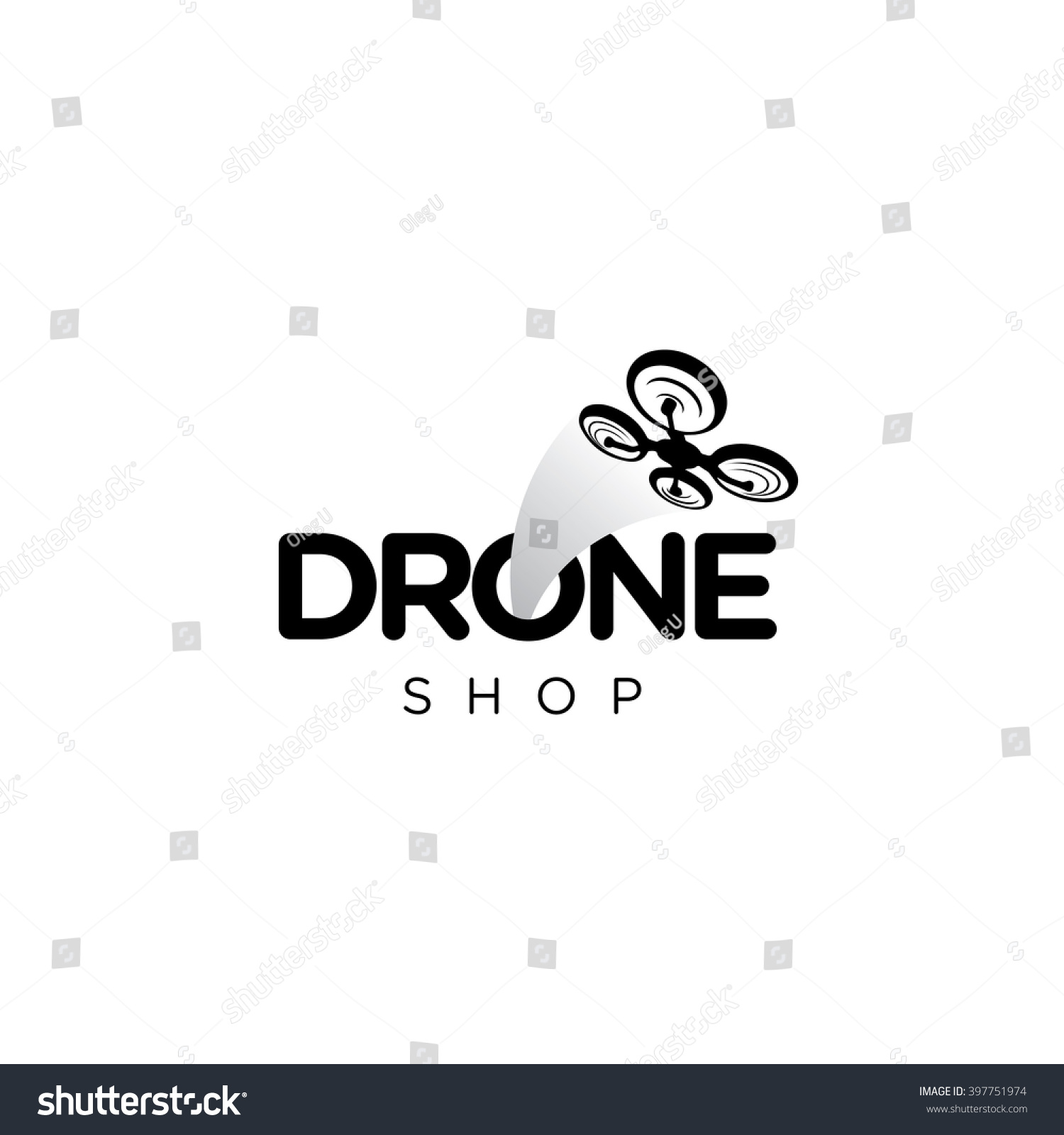 drone quadcopter vector template logo stock vector. Black Bedroom Furniture Sets. Home Design Ideas