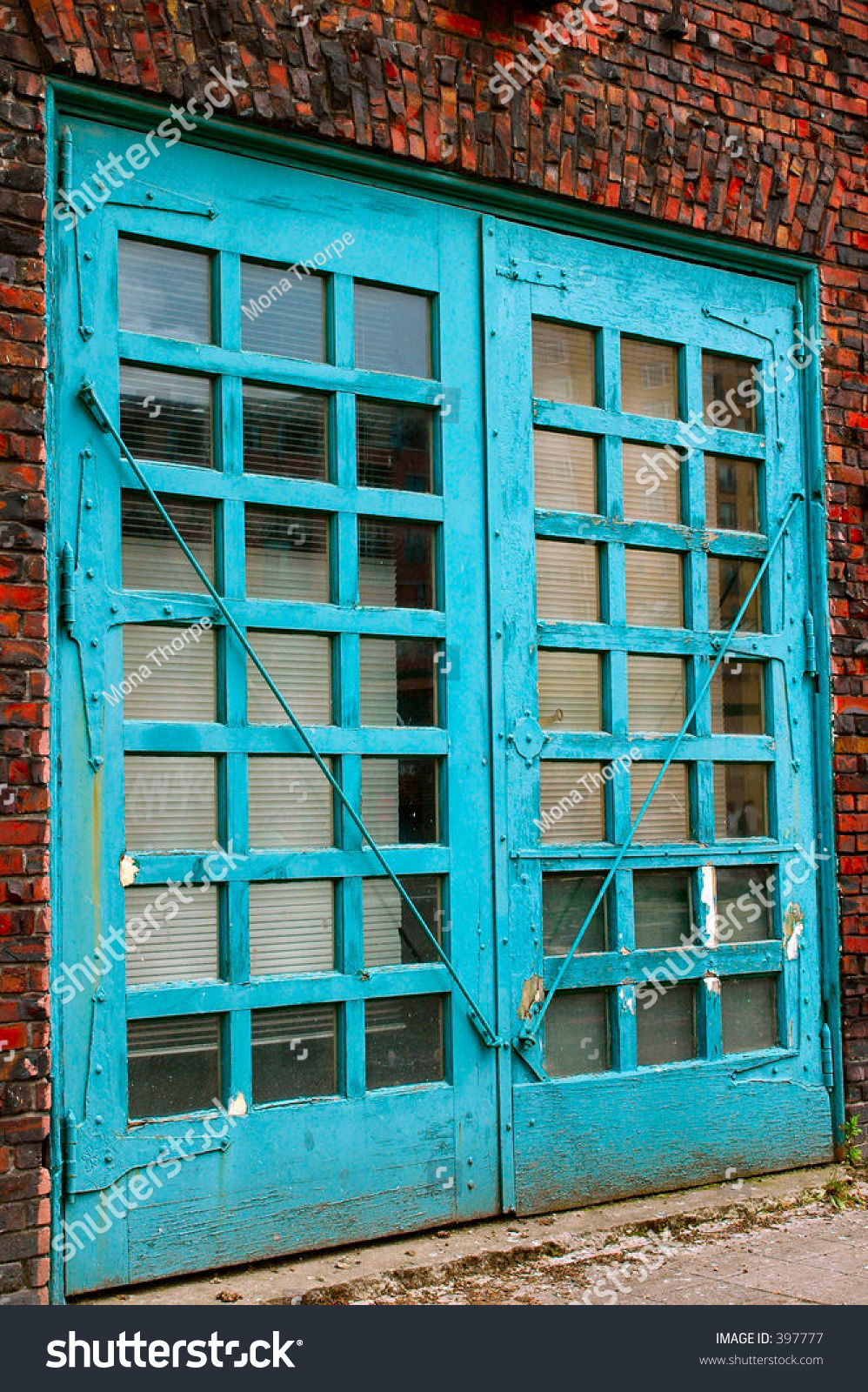 Bay Doors On Old Fire Station Stock Photo 397777 - Shutterstock