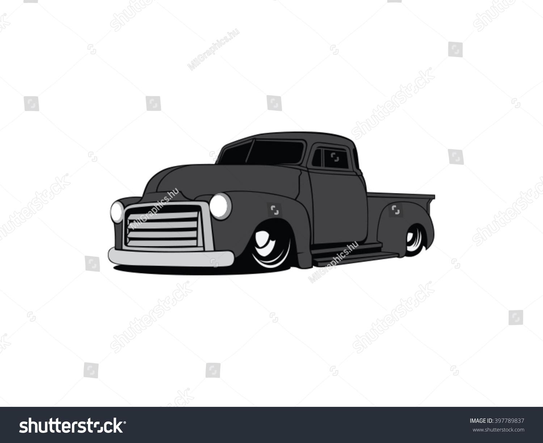 Old School Pick Truck Vector Art Stock Vector (2018) 397789837 ...