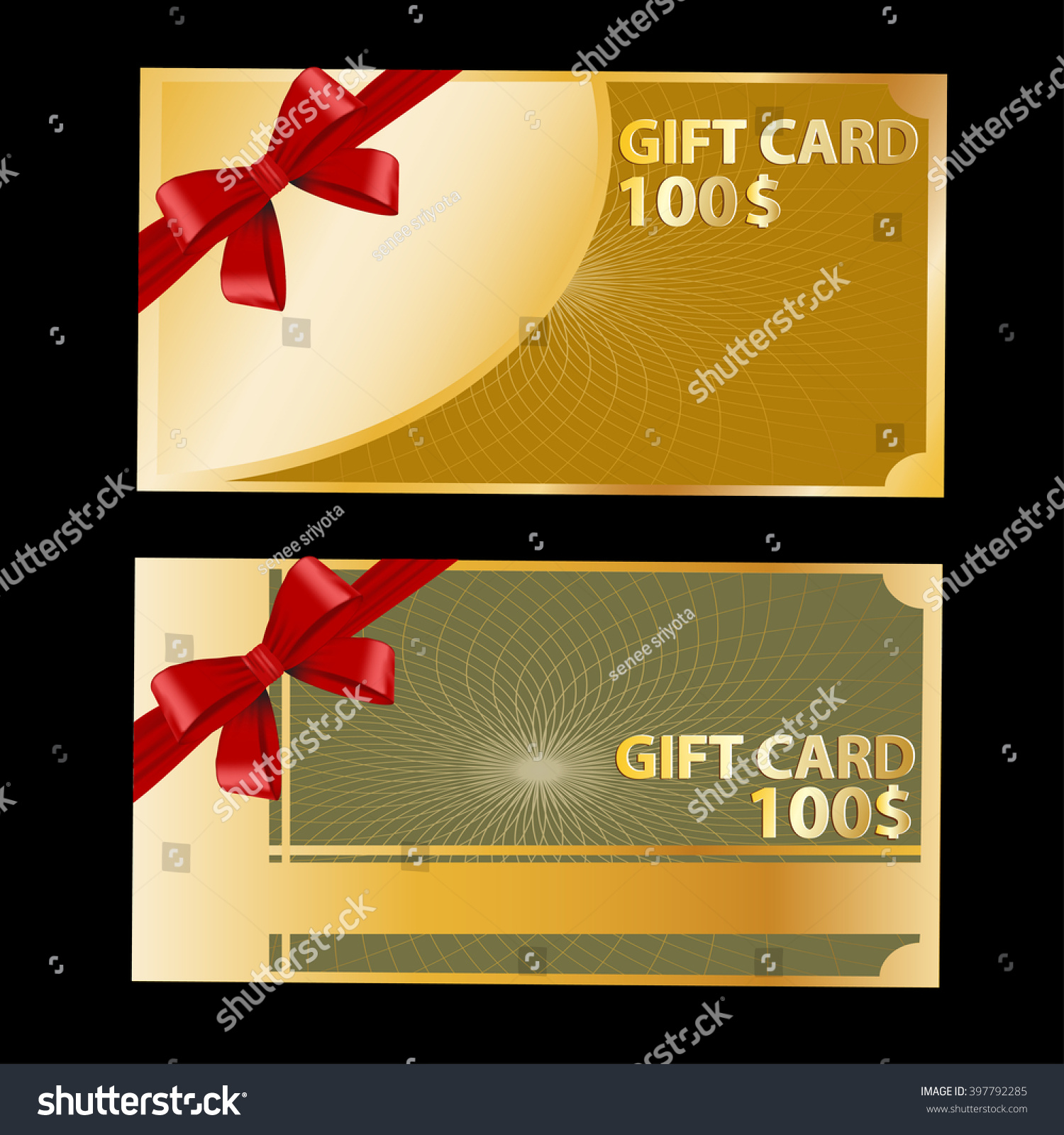 Gift Coupon Gift Card Discount Card Stock Vector 397792285 ...