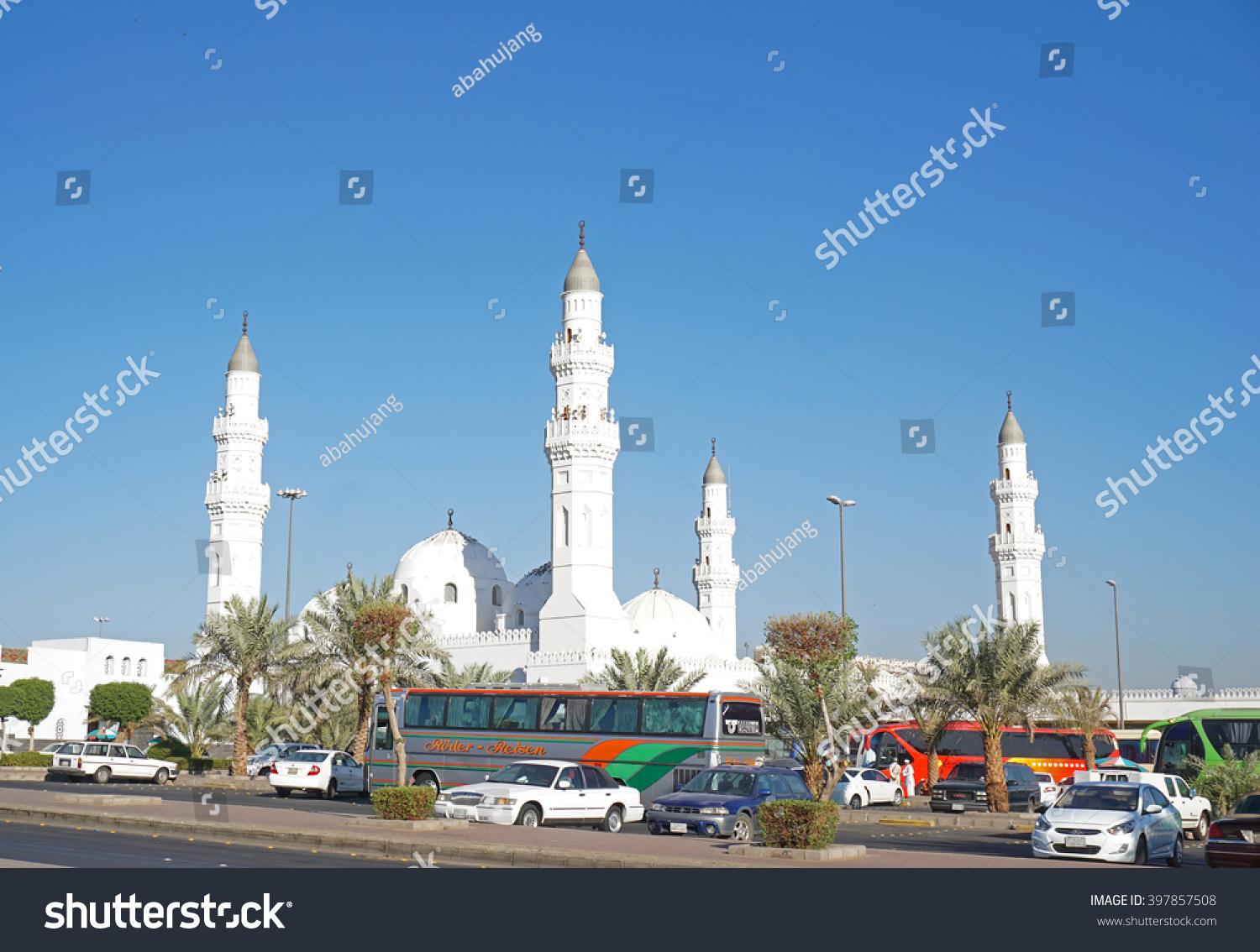 MEDINA SAUDI ARABIA OCT 29 A view of Masjid Quba Oct 29 2014 in Medina Saudi Arabia This is the first mosque built by Prophet Muhammad peace be upon him in Islam