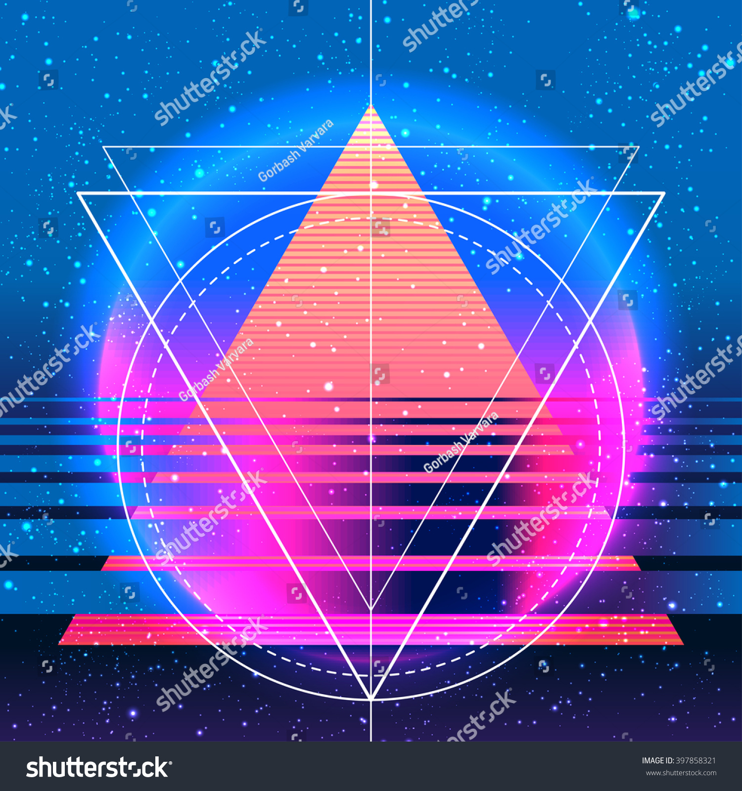 Design t shirt neon colors - Retro Vintage 80s Or 90s Geometric Style Abstract Background Good Design For Textile T