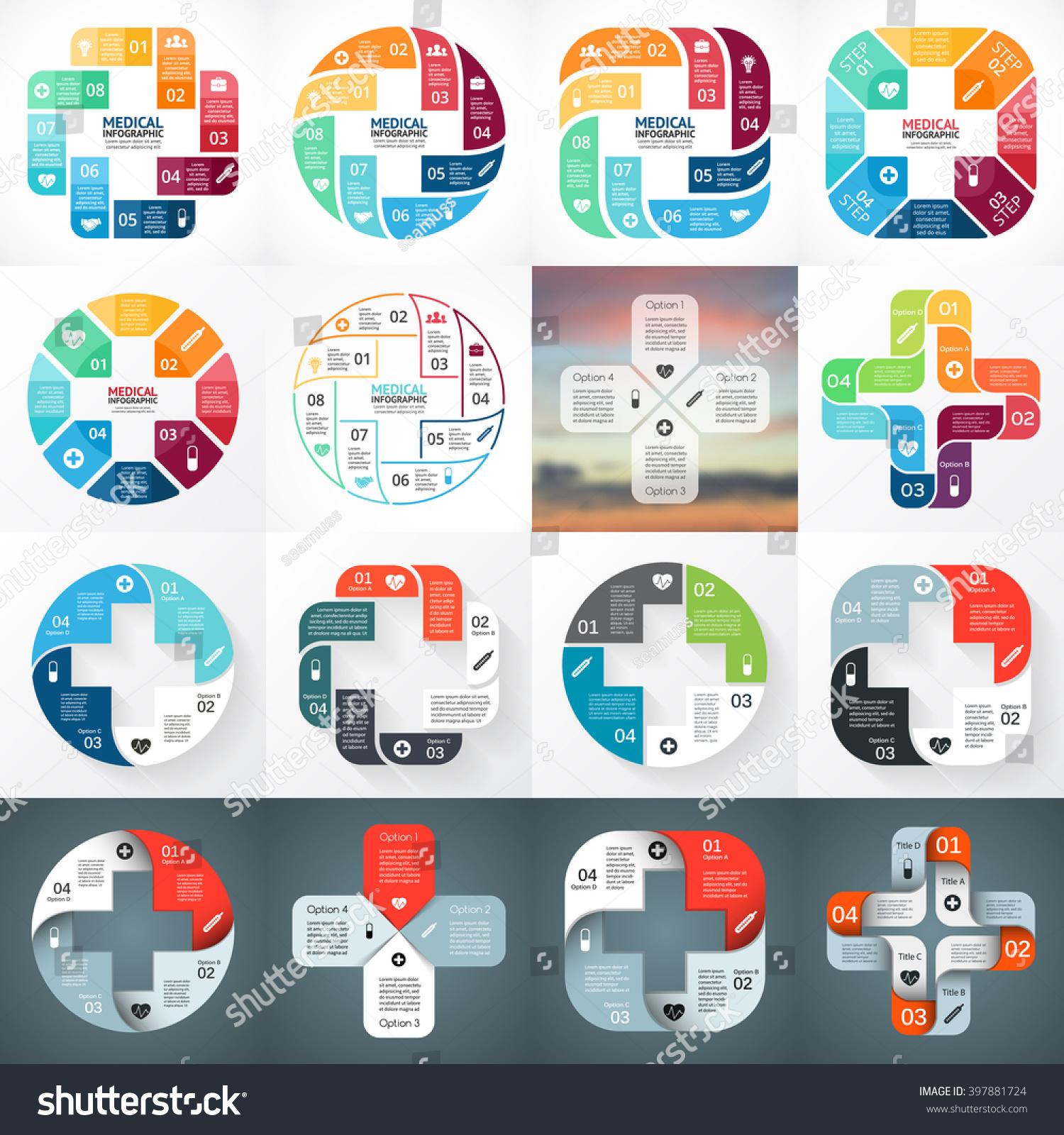 vector plus infographic medical diagram healthcare stock vector