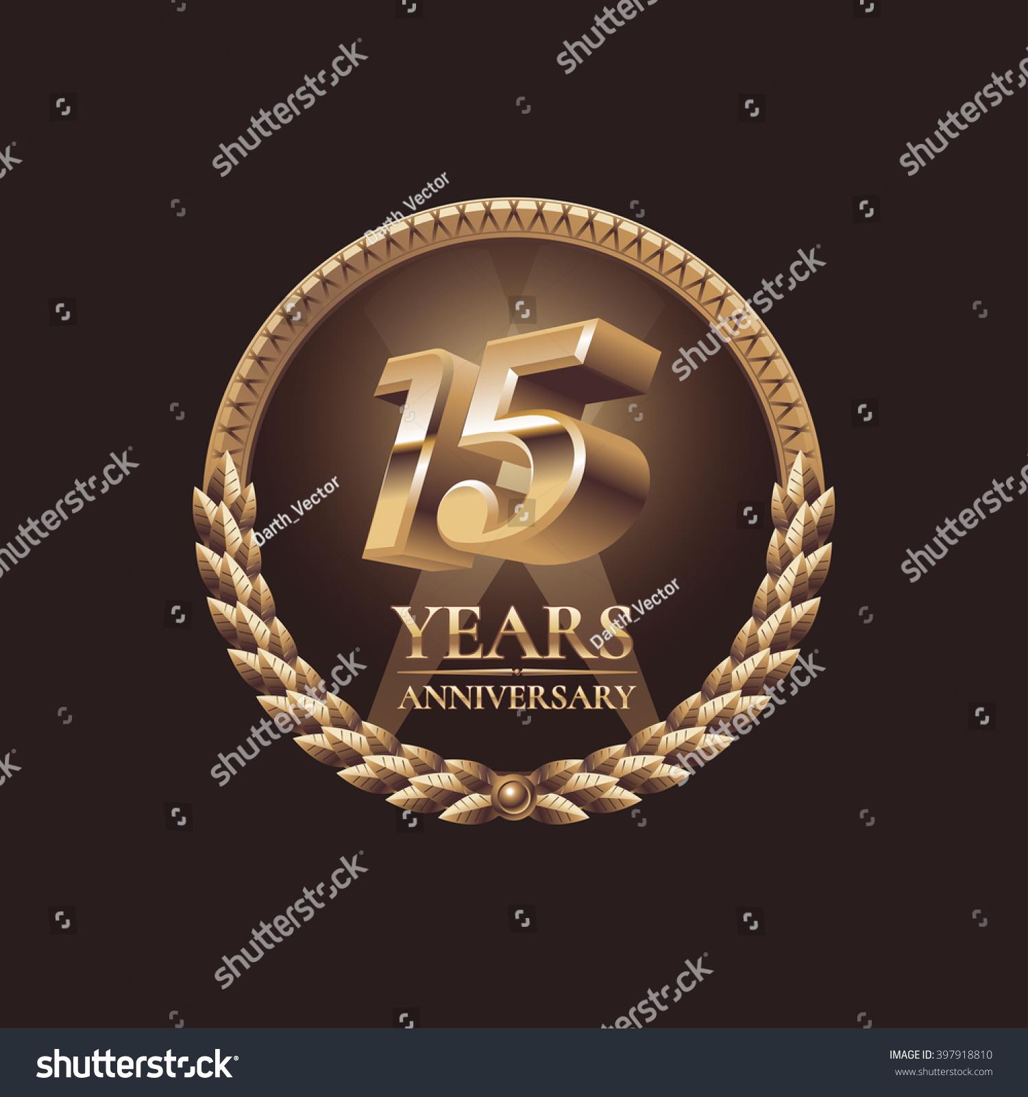 15 Years Anniversary Vector Icon Symbol Stock Vector Royalty Free