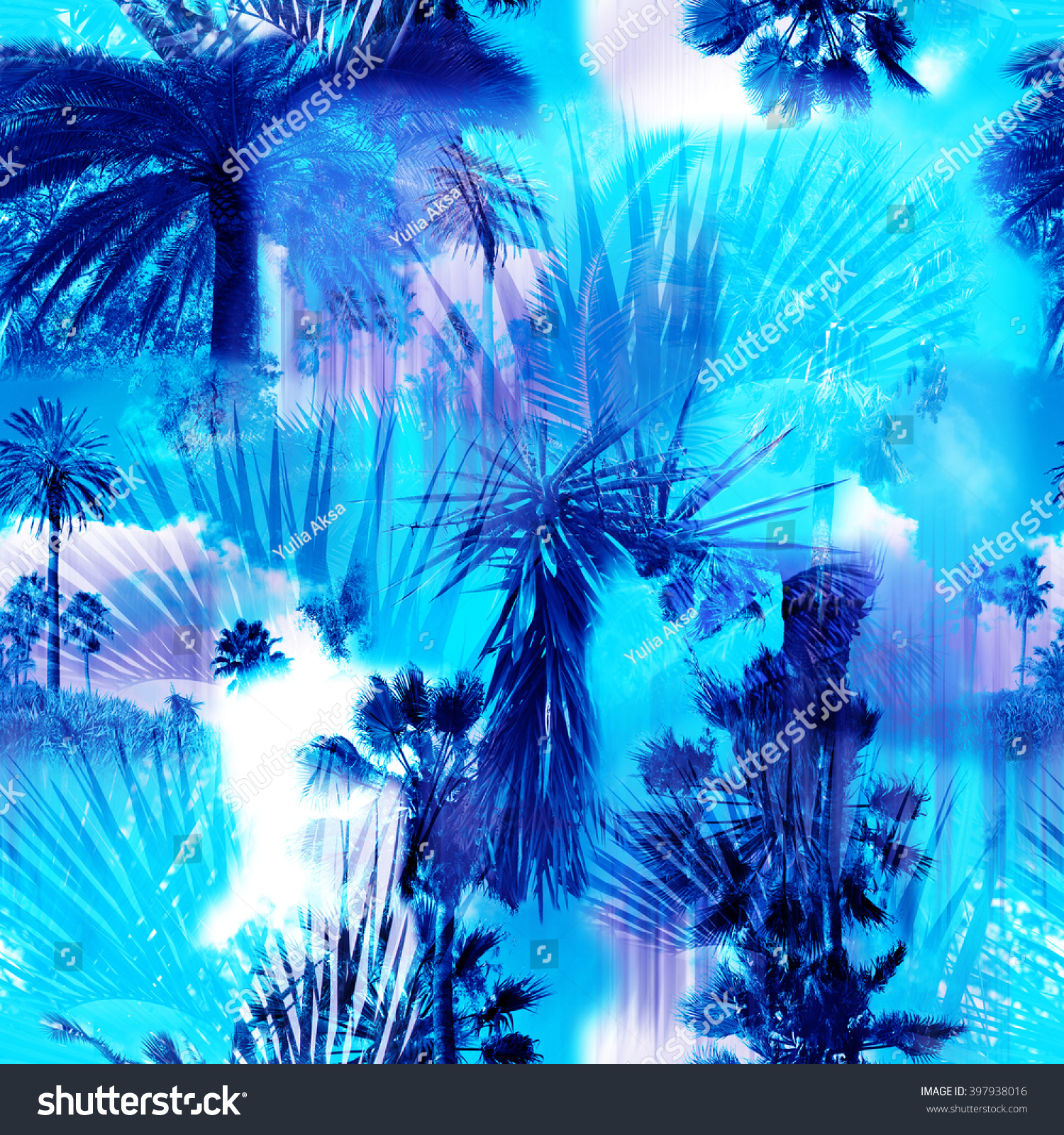 background of blue tropical - photo #13