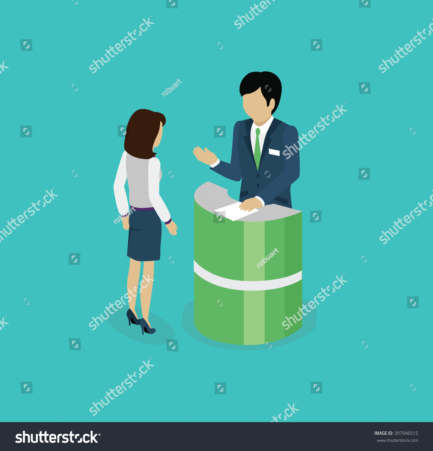 Isometric consultation icon isolated design flat stock for Design consultancy services