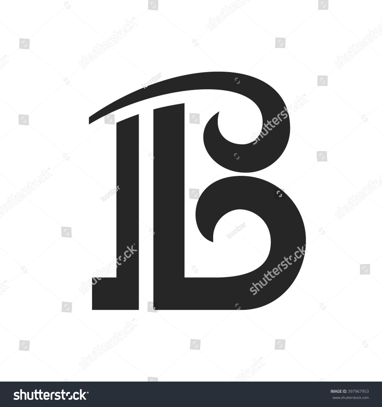 logo for letter b design concept