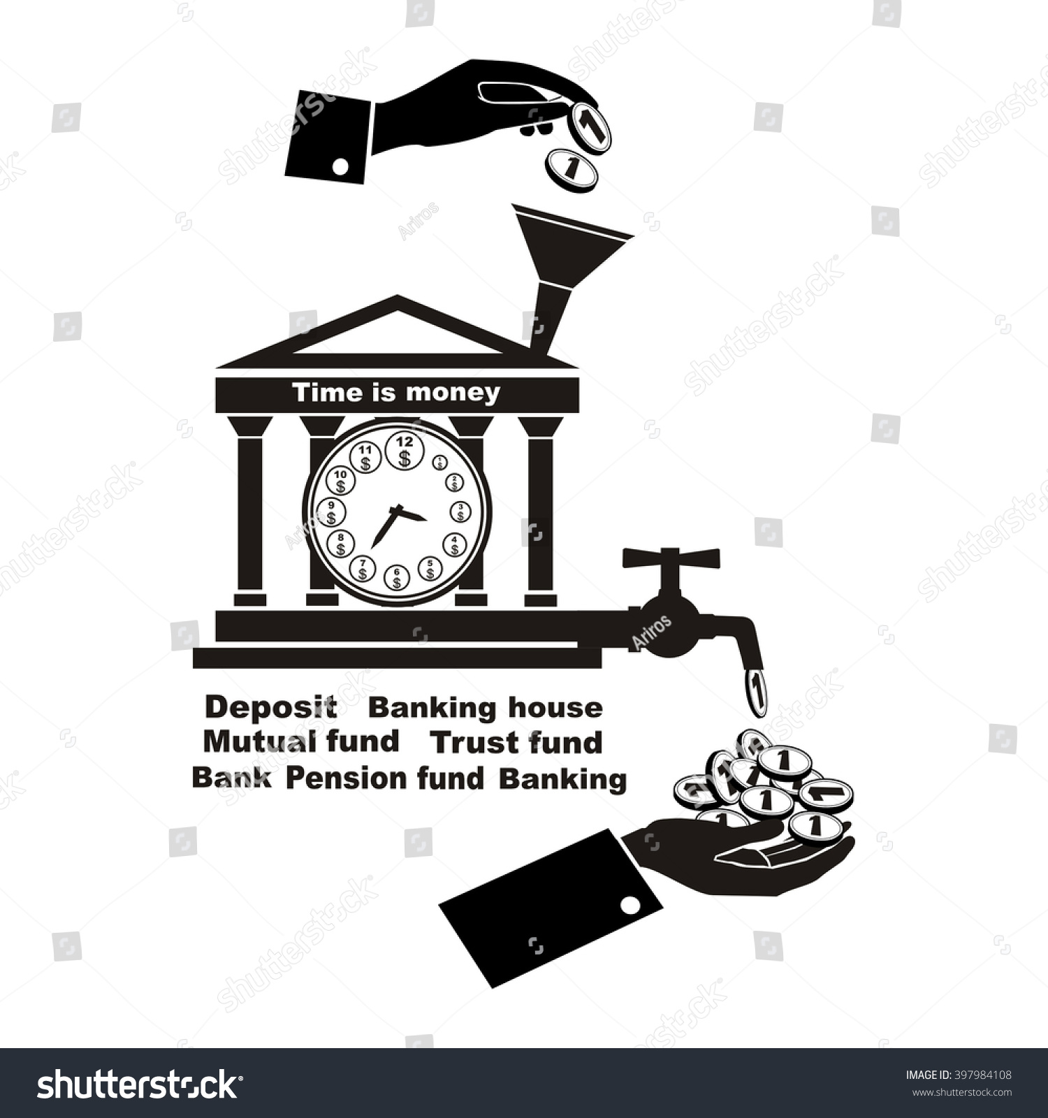 Banking symbol bank symbol pension fund stock vector 397984108 banking symbol bank symbol pension fund symbol mutual fund symbol computer drawing biocorpaavc Images