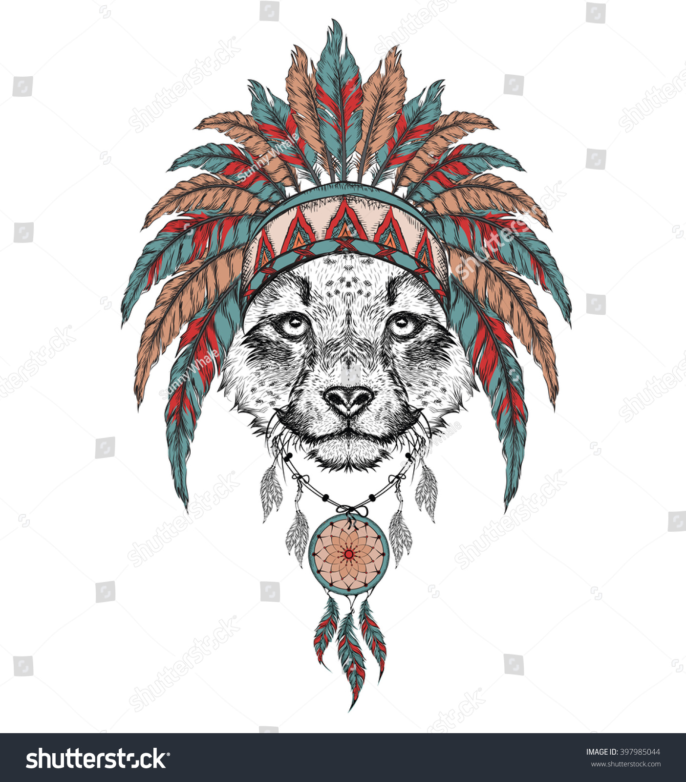 Cheetah in the Indian roach  Indian… Stock Photo 397985044