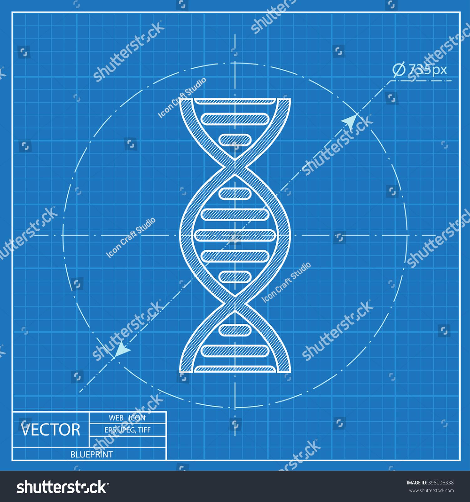 Vector dna molecule blueprint icon vectores en stock 398006338 vector dna molecule blueprint icon malvernweather Choice Image