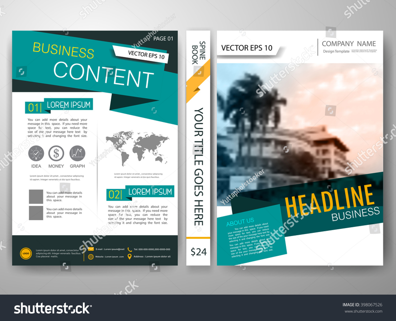 modern magazine flyers cover annual report stock vector royalty