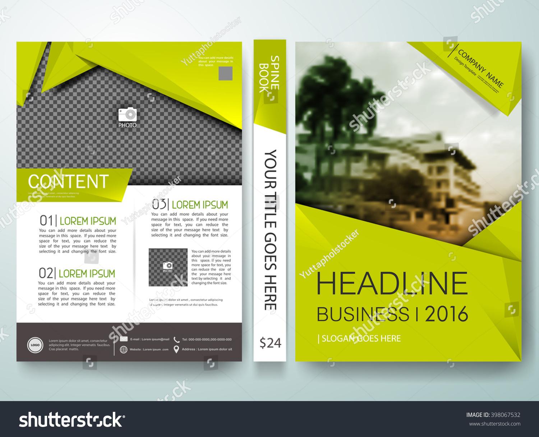 Cover Book Brochure Layout Vector : Brochure design template vector green abstract stock