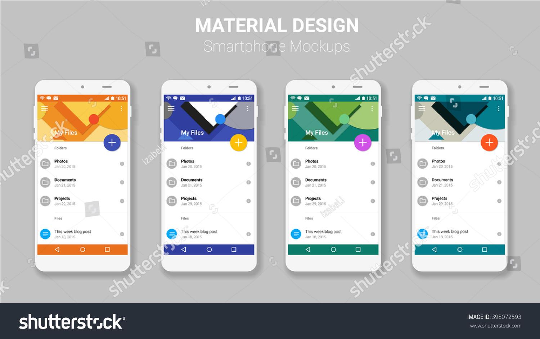 material ui screens mockup kit stock vector royalty free 398072593